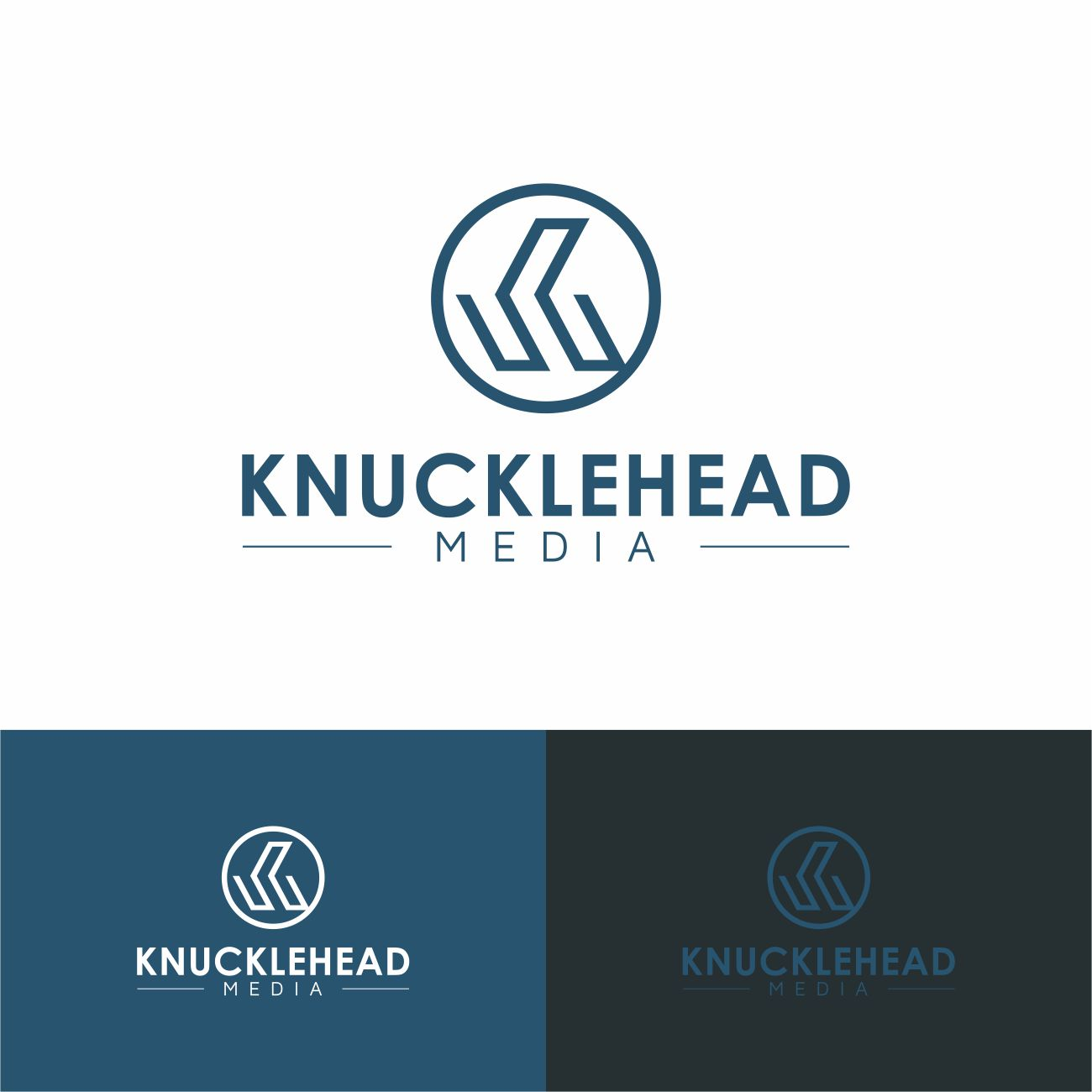 Logo Design by RasYa Muhammad Athaya - Entry No. 98 in the Logo Design Contest Imaginative Logo Design for knucklehead media.