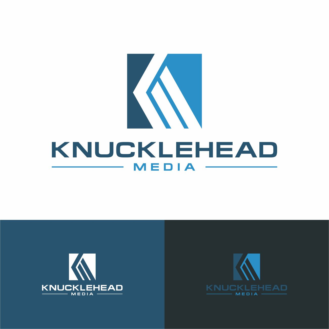 Logo Design by RasYa Muhammad Athaya - Entry No. 99 in the Logo Design Contest Imaginative Logo Design for knucklehead media.
