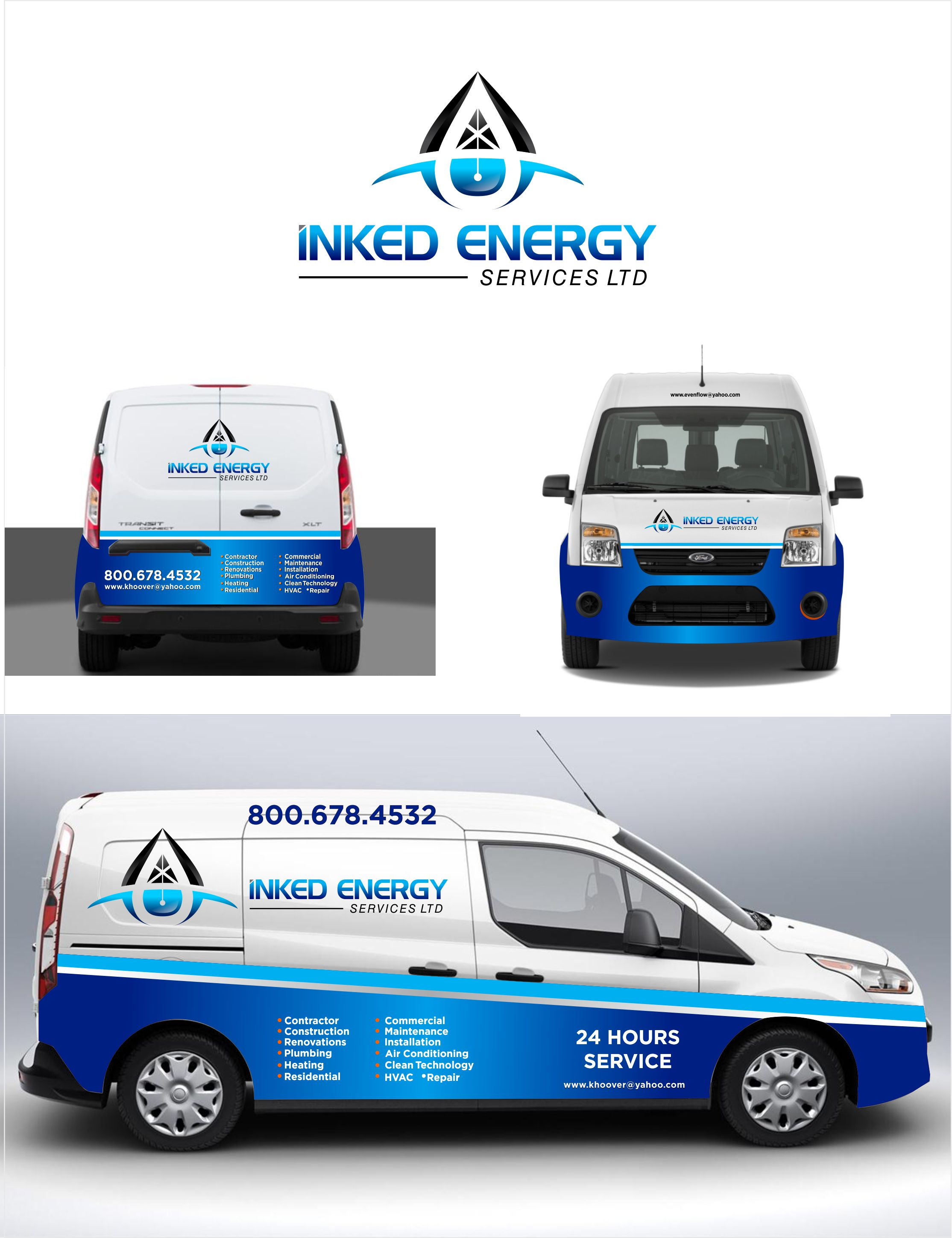 Logo Design by Raymond Garcia - Entry No. 168 in the Logo Design Contest Creative Logo Design for INKED ENERGY SERVICES LTD.