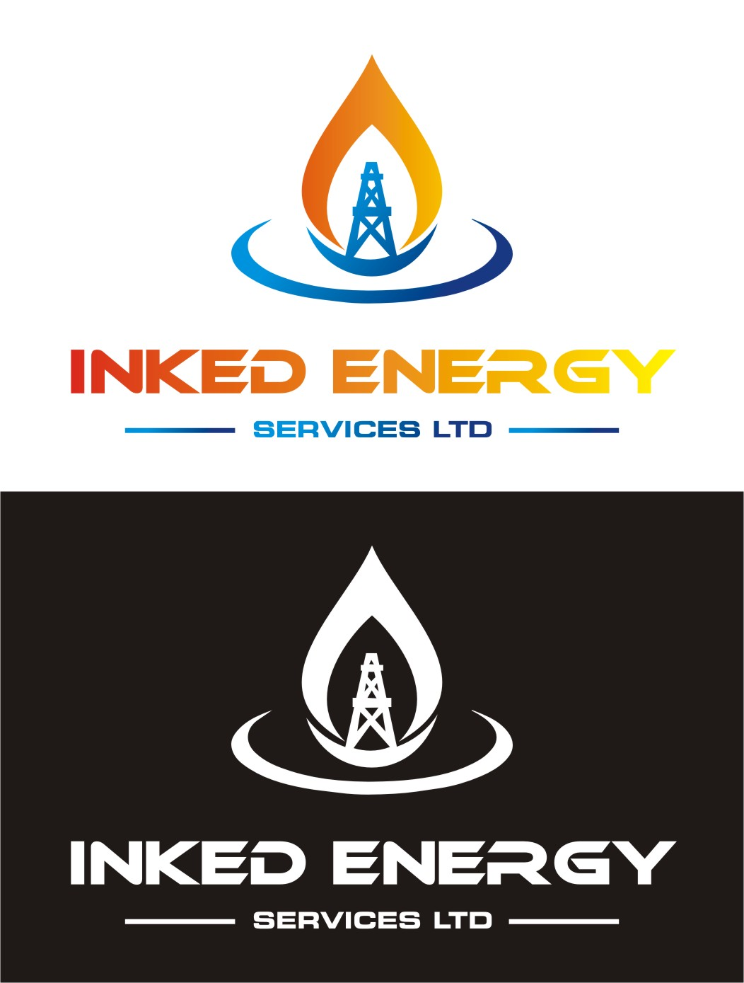 Logo Design by Spider Graphics - Entry No. 173 in the Logo Design Contest Creative Logo Design for INKED ENERGY SERVICES LTD.