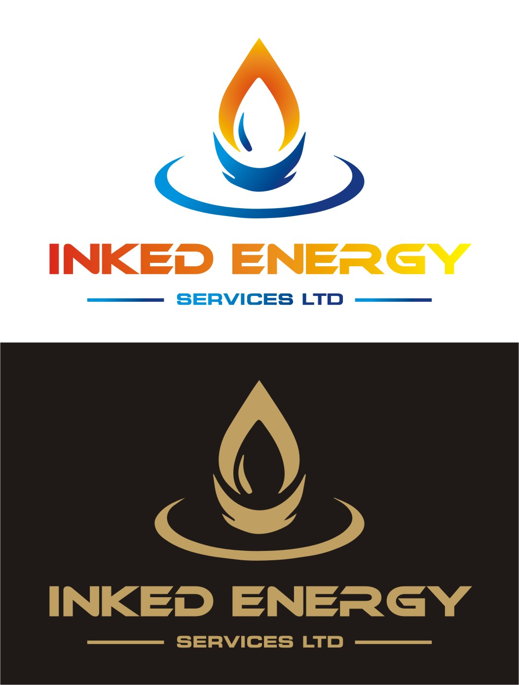 Logo Design by Spider Graphics - Entry No. 174 in the Logo Design Contest Creative Logo Design for INKED ENERGY SERVICES LTD.