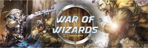 Banner Ad Design by Private User - Entry No. 1 in the Banner Ad Design Contest Banner Ad Design - War of Wizards (fantasy game).