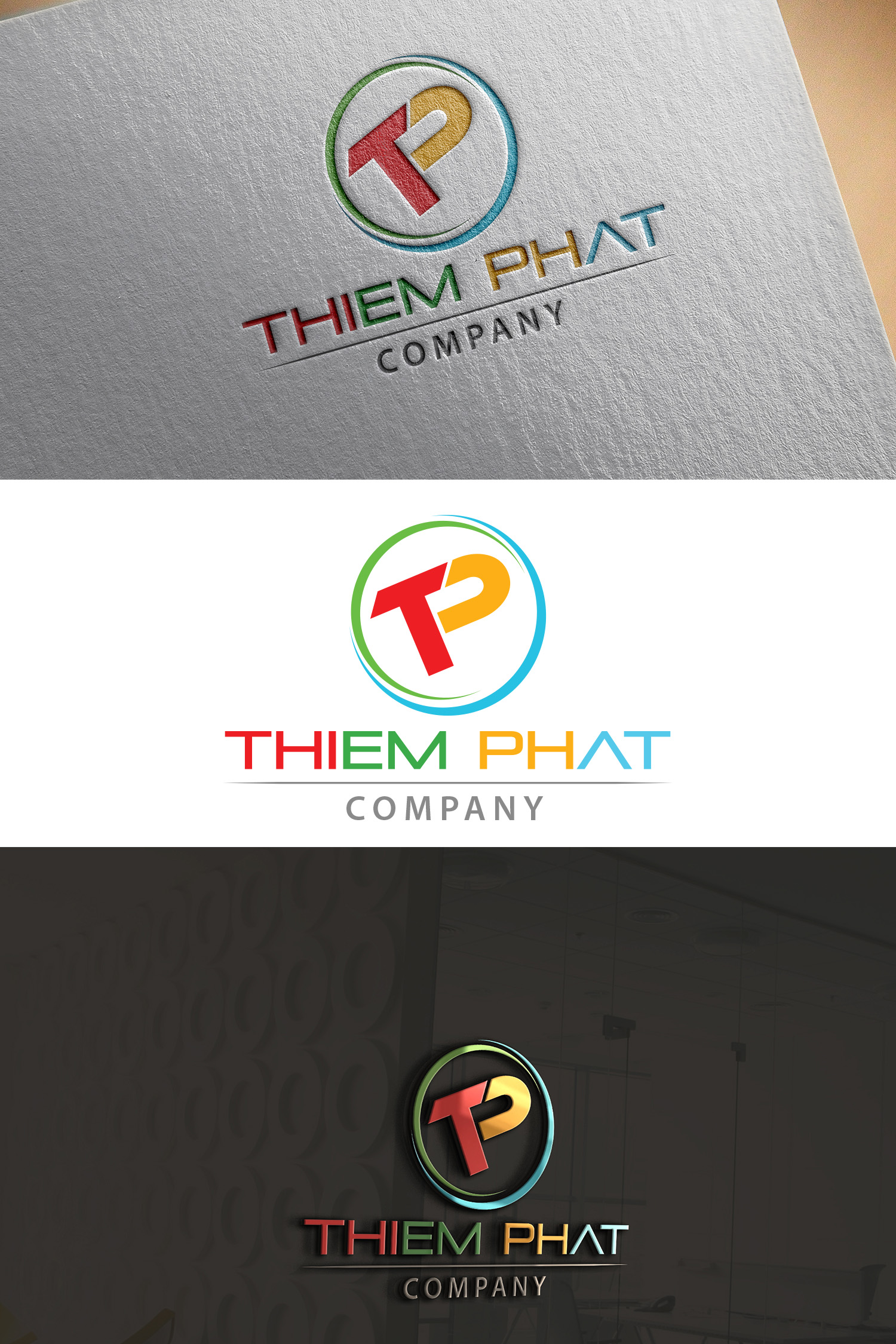 Logo Design by Umair ahmed Iqbal - Entry No. 192 in the Logo Design Contest New Logo Design for Thiem Phat company.