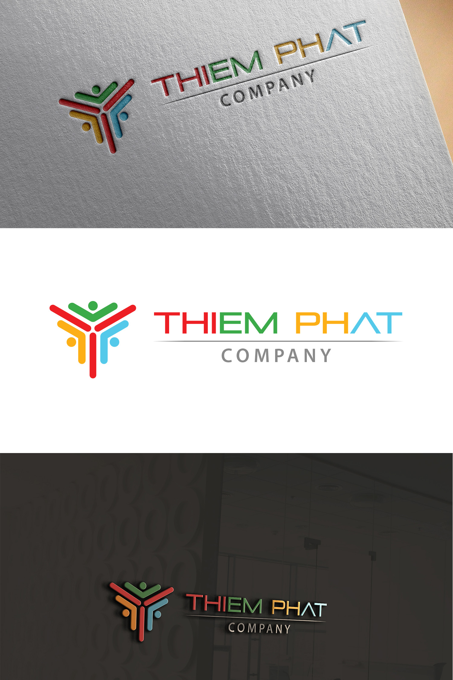 Logo Design by Umair ahmed Iqbal - Entry No. 193 in the Logo Design Contest New Logo Design for Thiem Phat company.