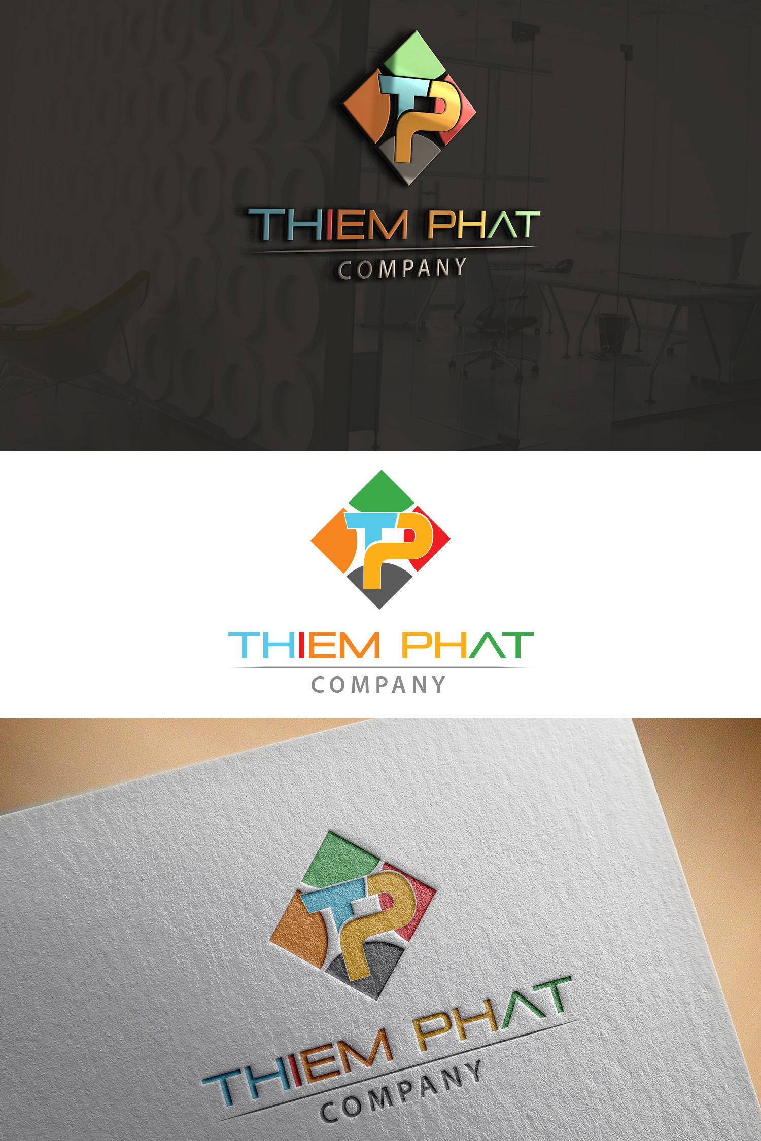 Logo Design by Umair ahmed Iqbal - Entry No. 194 in the Logo Design Contest New Logo Design for Thiem Phat company.