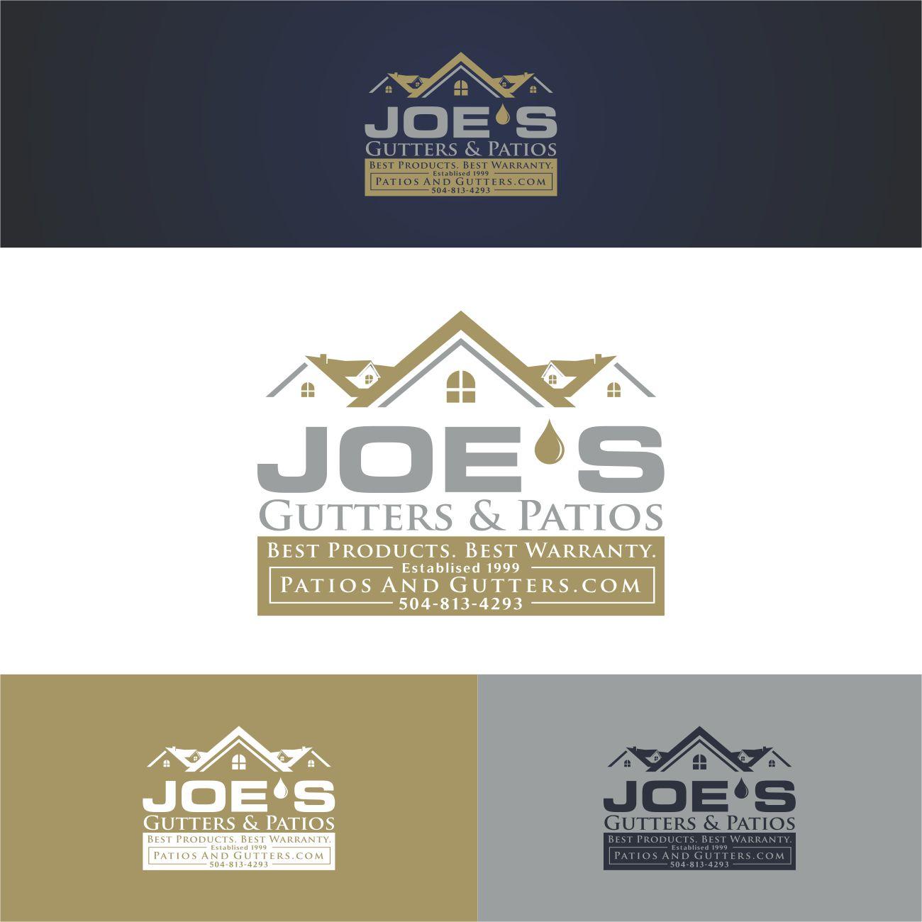 Logo Design by RasYa Muhammad Athaya - Entry No. 4 in the Logo Design Contest Imaginative Logo Design for Joes Gutters & Patios.