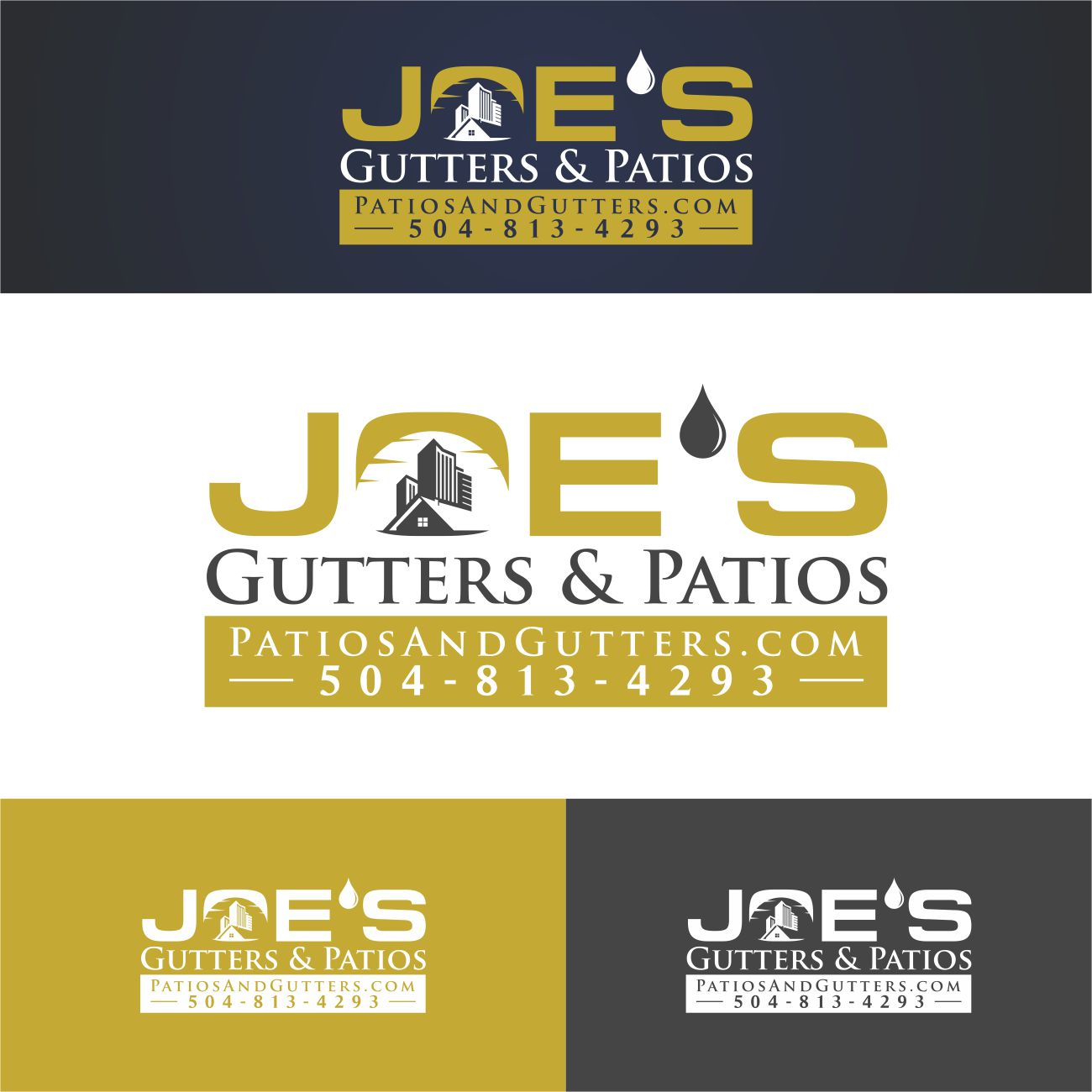 Logo Design by RasYa Muhammad Athaya - Entry No. 5 in the Logo Design Contest Imaginative Logo Design for Joes Gutters & Patios.