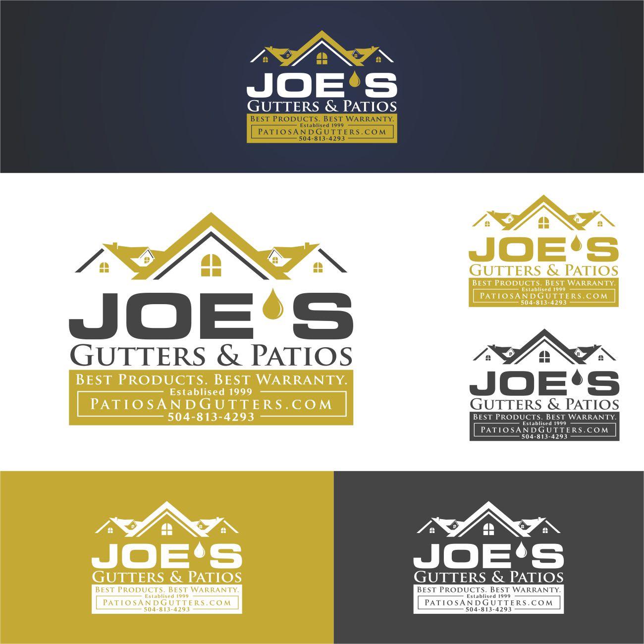 Logo Design by RasYa Muhammad Athaya - Entry No. 7 in the Logo Design Contest Imaginative Logo Design for Joes Gutters & Patios.