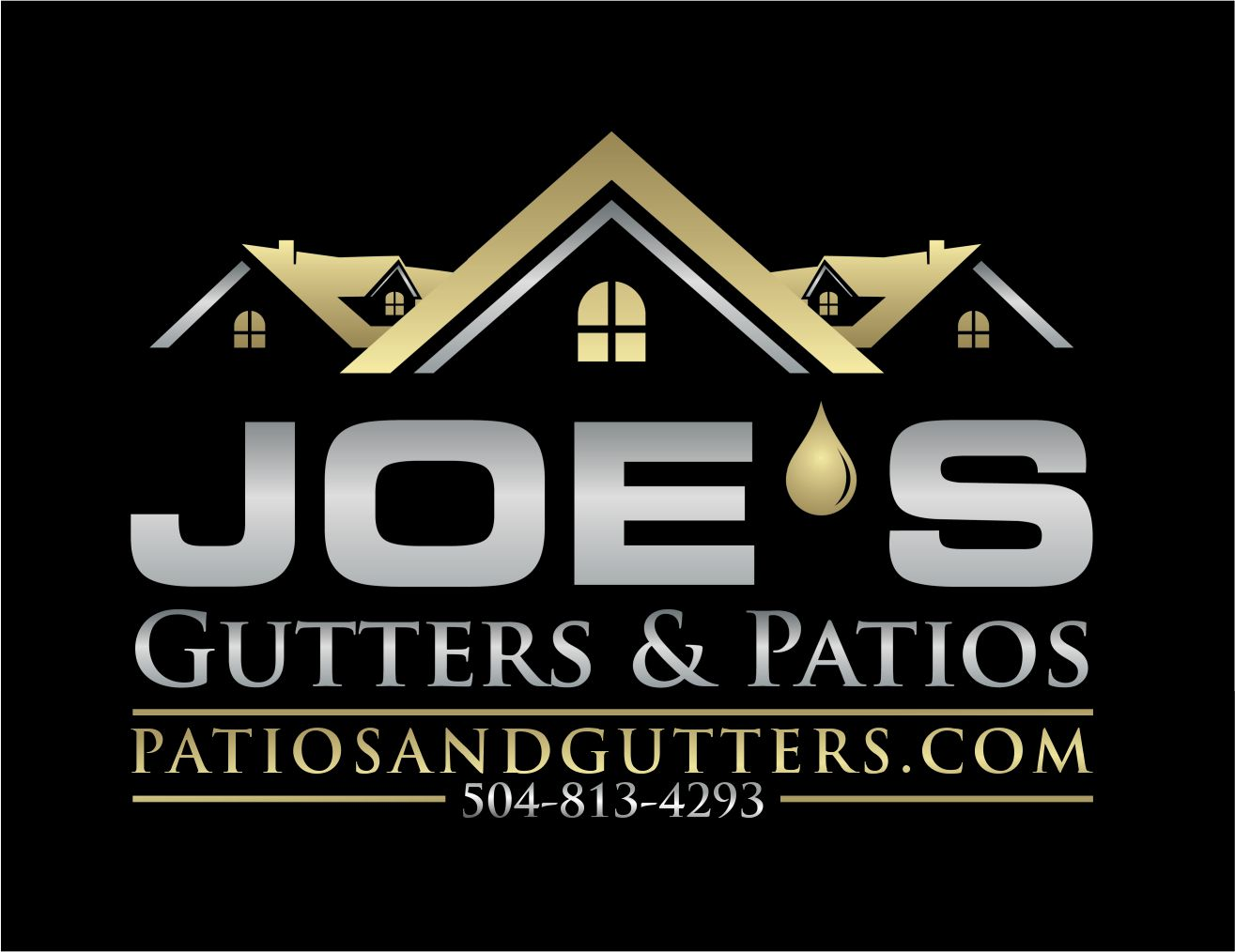 Logo Design by Raymond Garcia - Entry No. 9 in the Logo Design Contest Imaginative Logo Design for Joes Gutters & Patios.