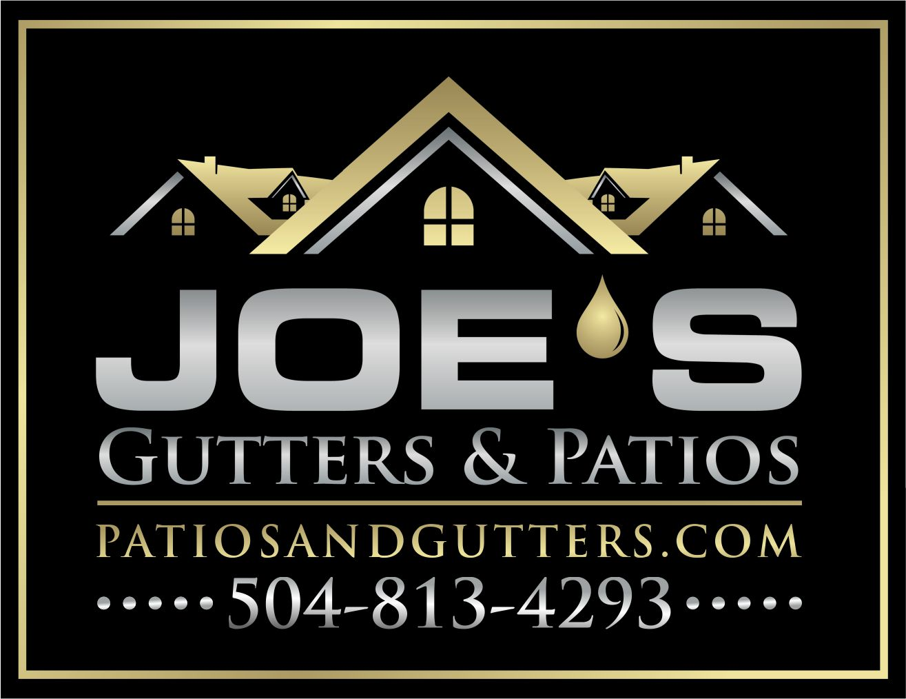 Logo Design by Raymond Garcia - Entry No. 11 in the Logo Design Contest Imaginative Logo Design for Joes Gutters & Patios.