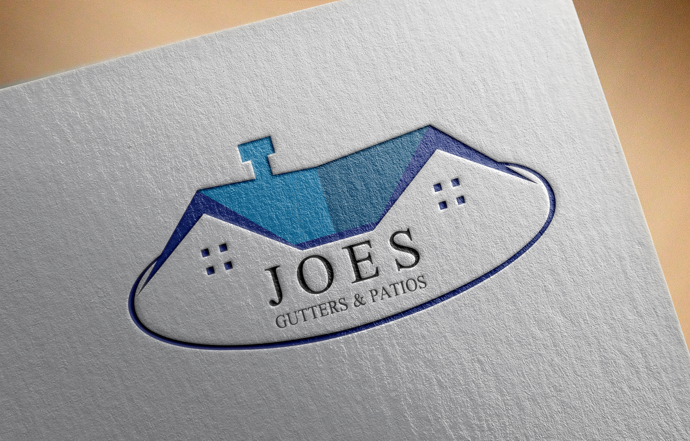 Logo Design by Private User - Entry No. 18 in the Logo Design Contest Imaginative Logo Design for Joes Gutters & Patios.