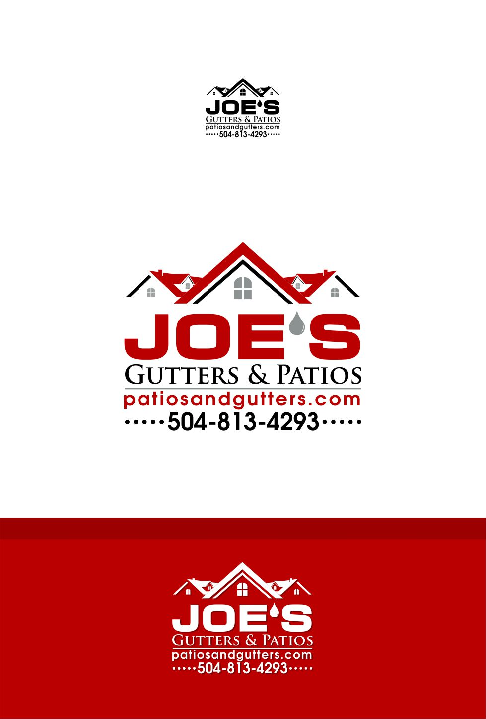 Logo Design by Raymond Garcia - Entry No. 20 in the Logo Design Contest Imaginative Logo Design for Joes Gutters & Patios.