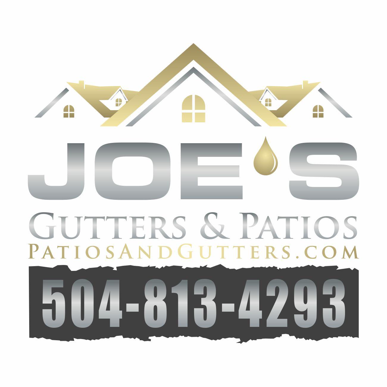 Logo Design by RasYa Muhammad Athaya - Entry No. 27 in the Logo Design Contest Imaginative Logo Design for Joes Gutters & Patios.