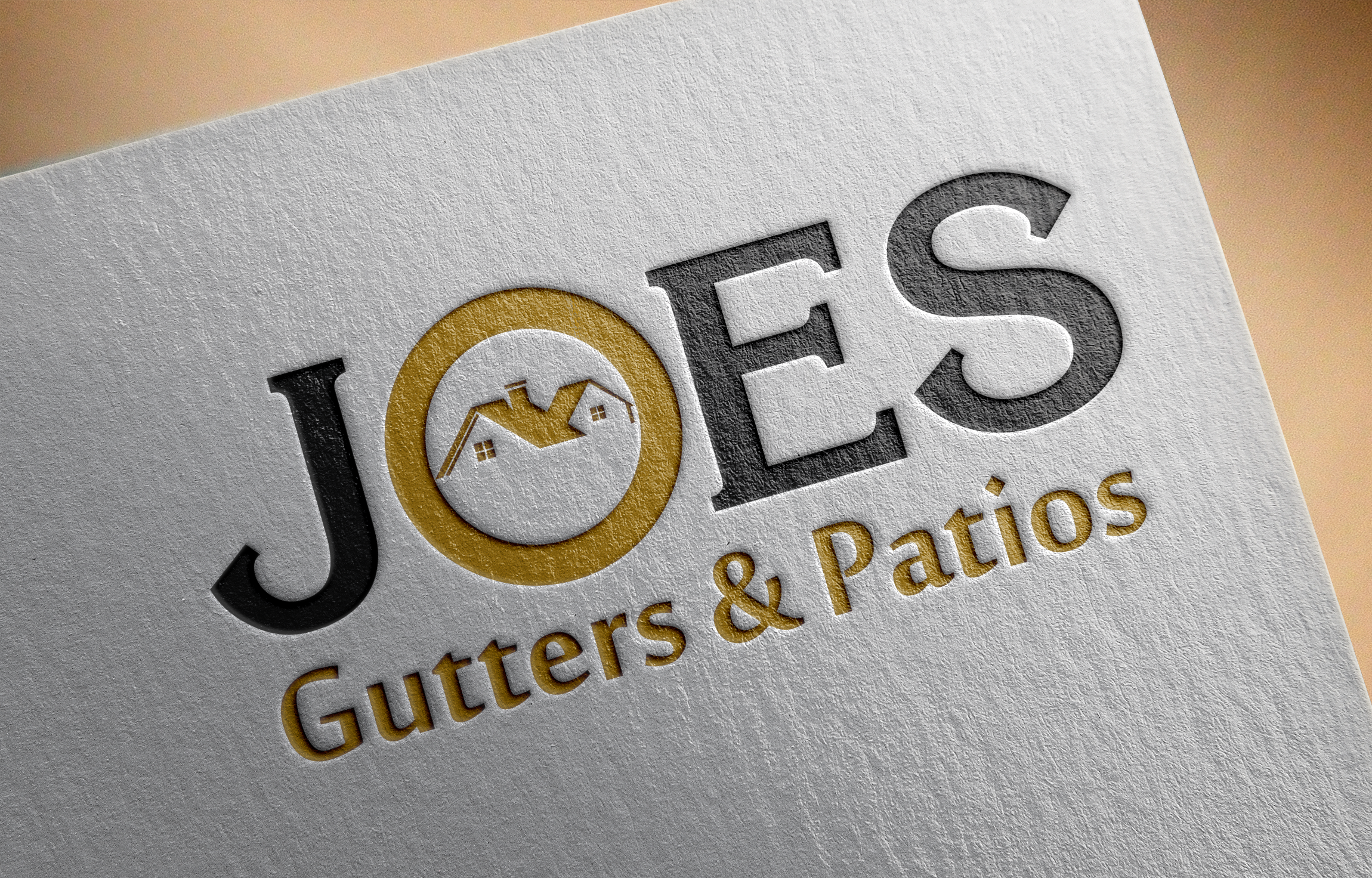 Logo Design by Private User - Entry No. 30 in the Logo Design Contest Imaginative Logo Design for Joes Gutters & Patios.