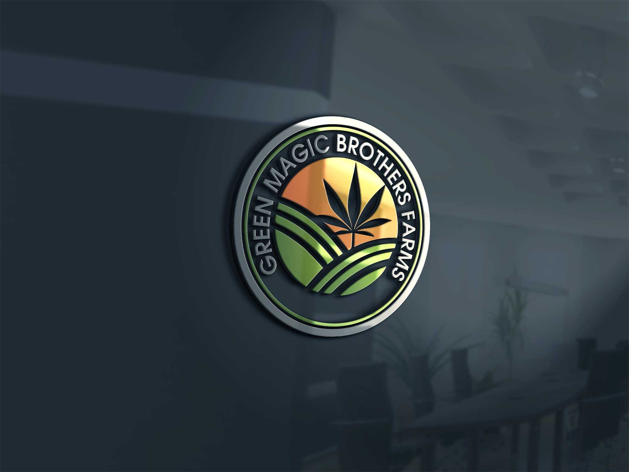 Logo Design by brands_in - Entry No. 39 in the Logo Design Contest Green Brothers Farm Logo Design.