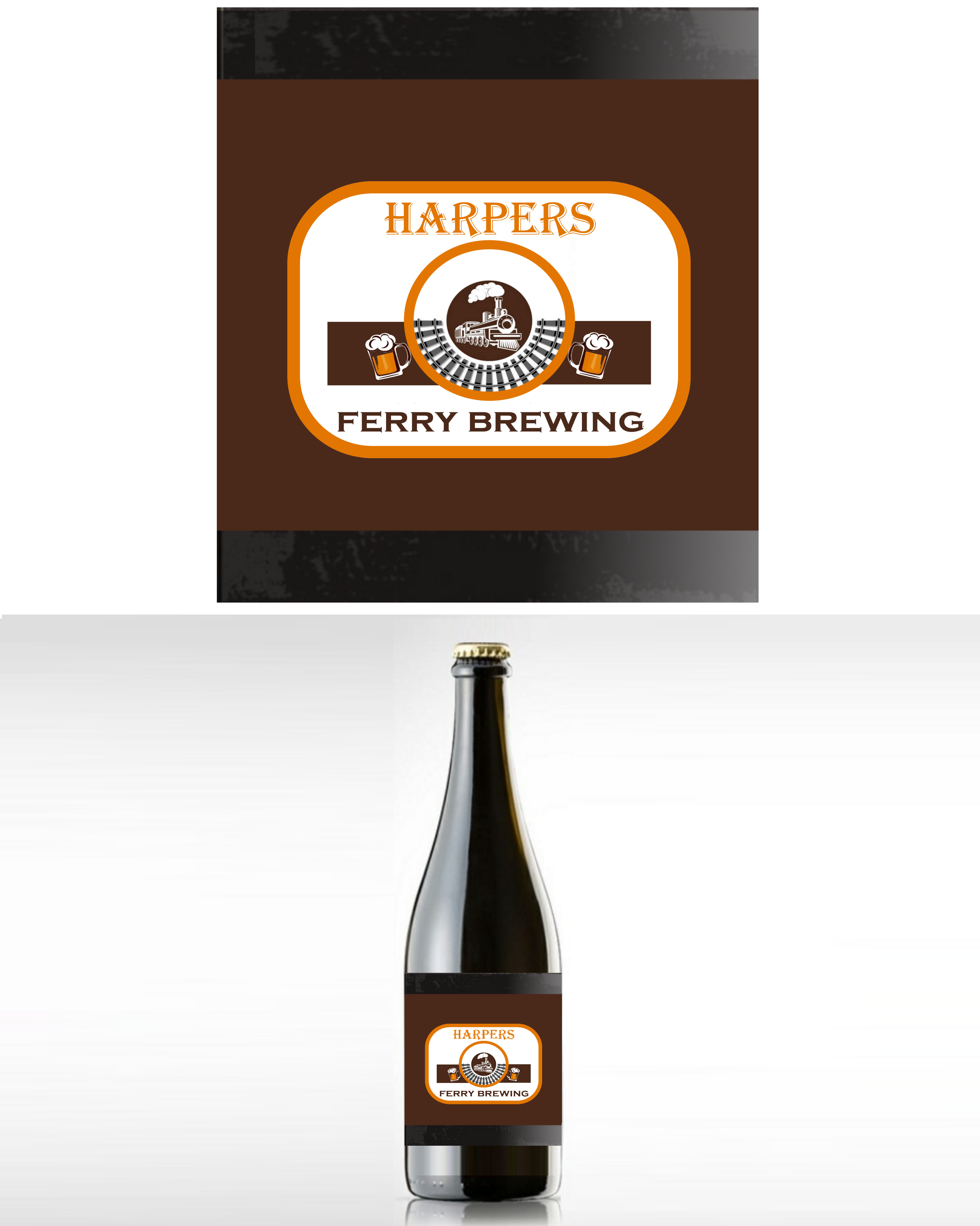 Logo Design by Roberto Bassi - Entry No. 9 in the Logo Design Contest Unique Logo Design Wanted for Harpers ferry brewing company.