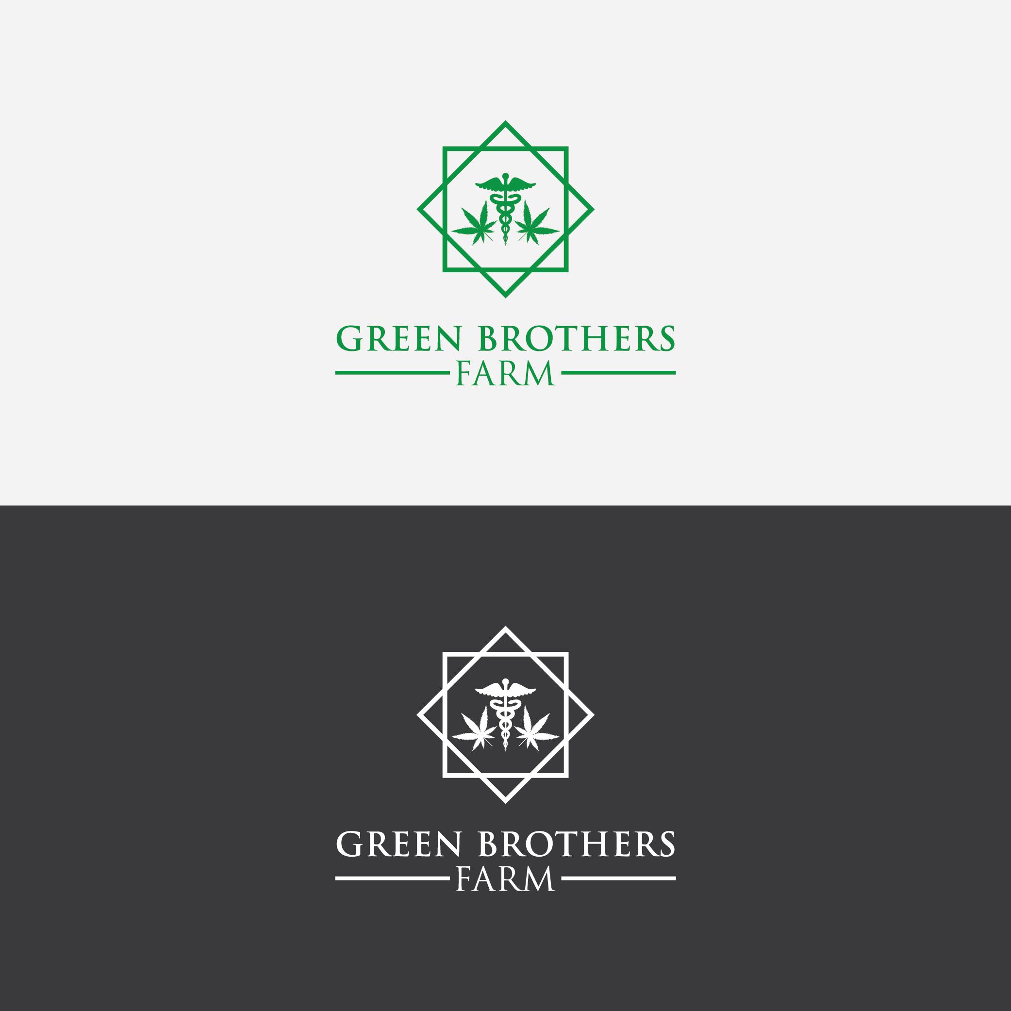 Logo Design by 354studio - Entry No. 58 in the Logo Design Contest Green Brothers Farm Logo Design.