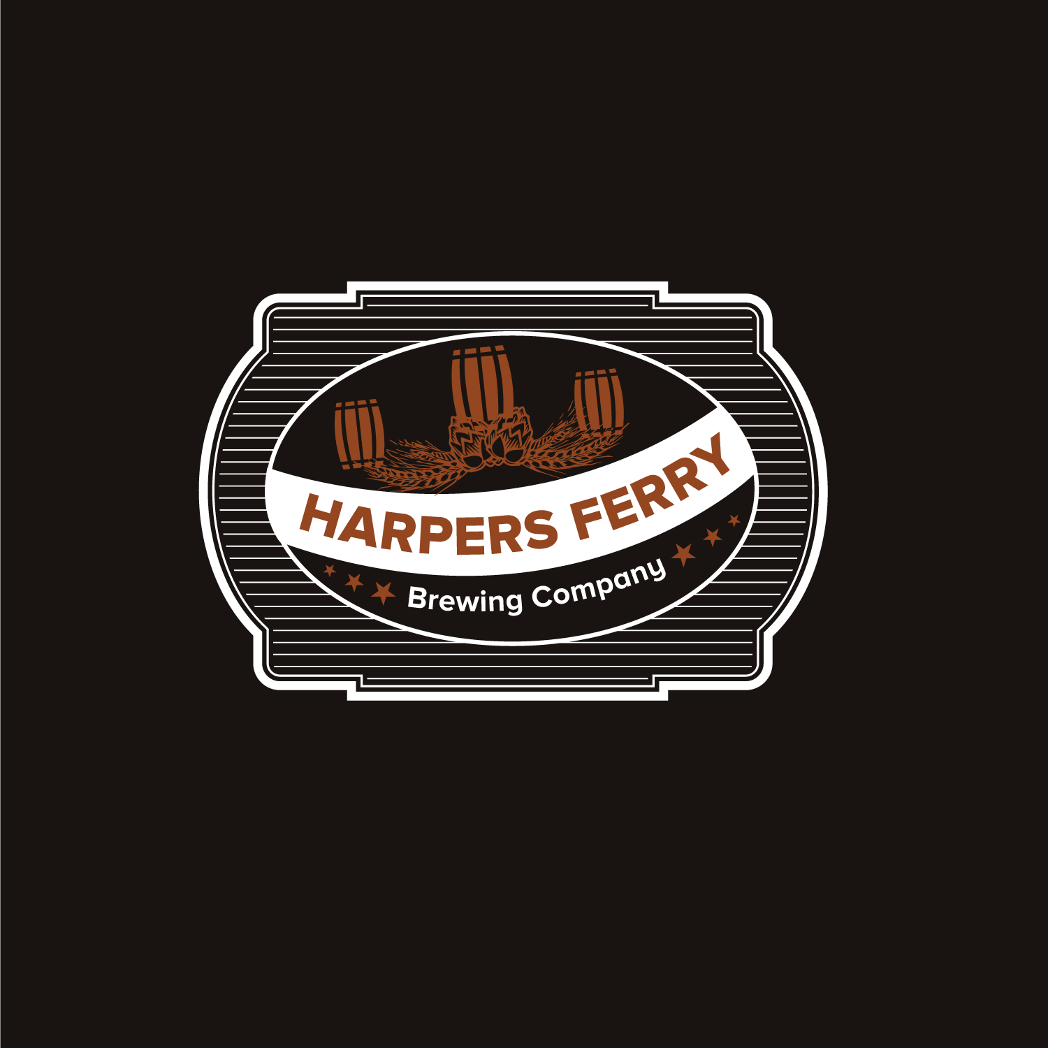 Logo Design by Bac Huu - Entry No. 12 in the Logo Design Contest Unique Logo Design Wanted for Harpers ferry brewing company.