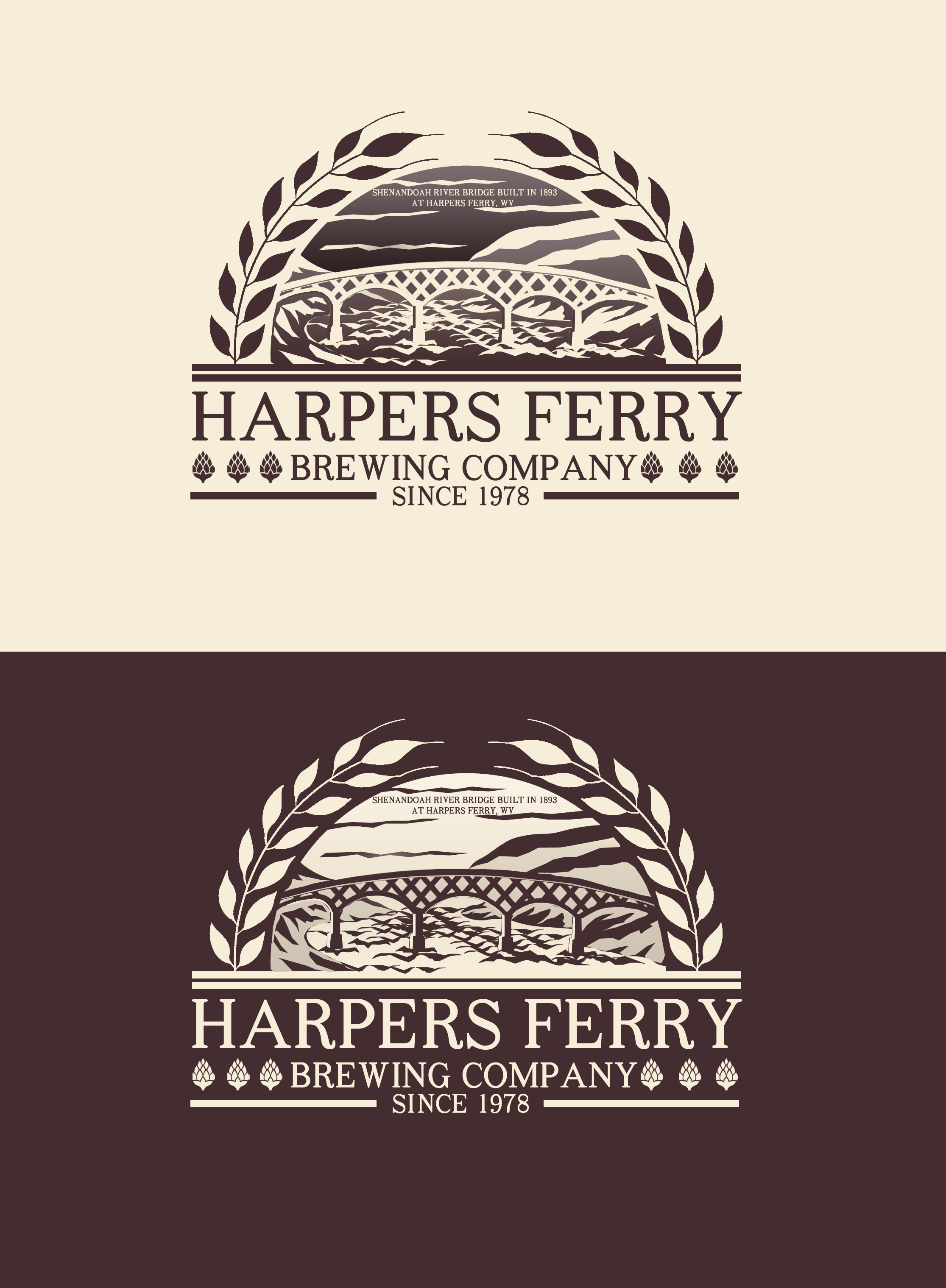 Logo Design by JSDESIGNGROUP - Entry No. 30 in the Logo Design Contest Unique Logo Design Wanted for Harpers ferry brewing company.