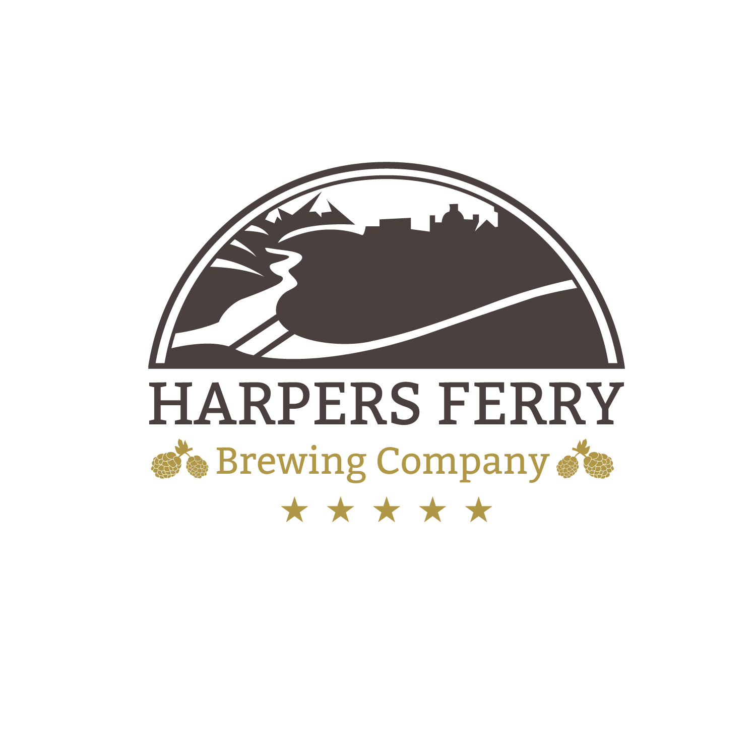 Logo Design by Bac Huu - Entry No. 38 in the Logo Design Contest Unique Logo Design Wanted for Harpers ferry brewing company.