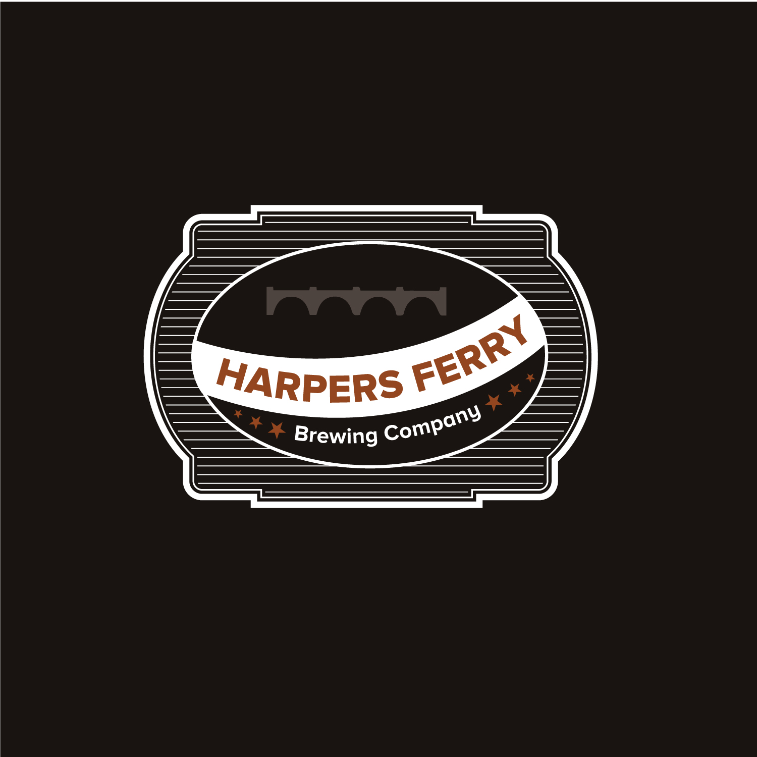 Logo Design by Bac Huu - Entry No. 39 in the Logo Design Contest Unique Logo Design Wanted for Harpers ferry brewing company.