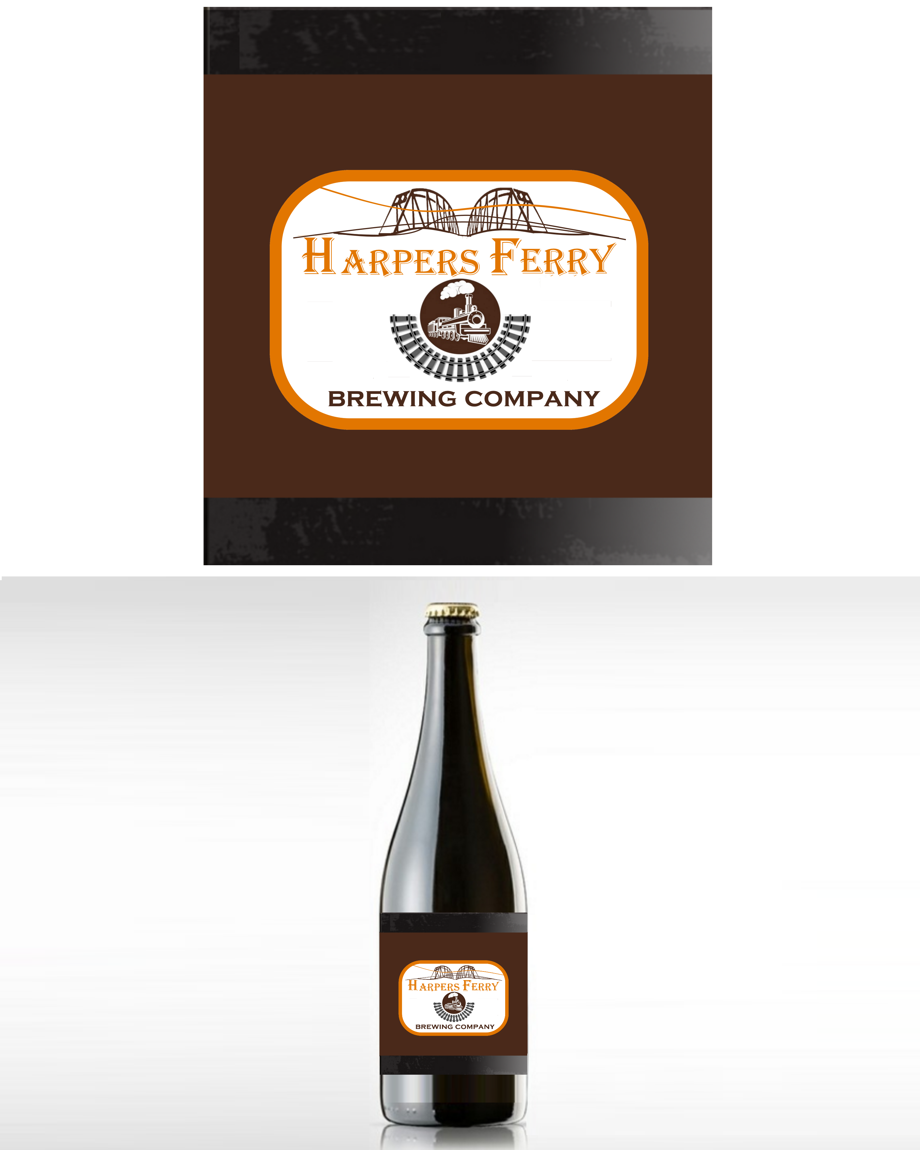 Logo Design by Roberto Bassi - Entry No. 52 in the Logo Design Contest Unique Logo Design Wanted for Harpers ferry brewing company.