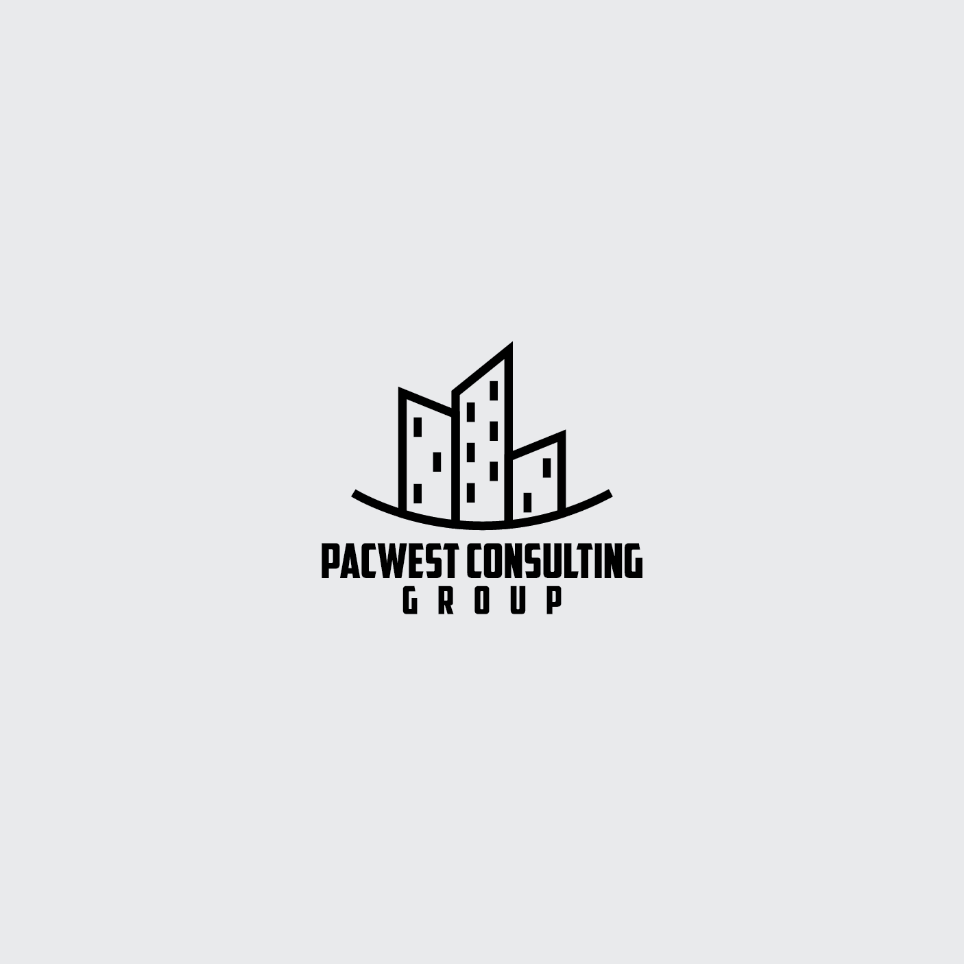 Logo Design by 354studio - Entry No. 32 in the Logo Design Contest Imaginative Logo Design for Pacwest Consulting Group.