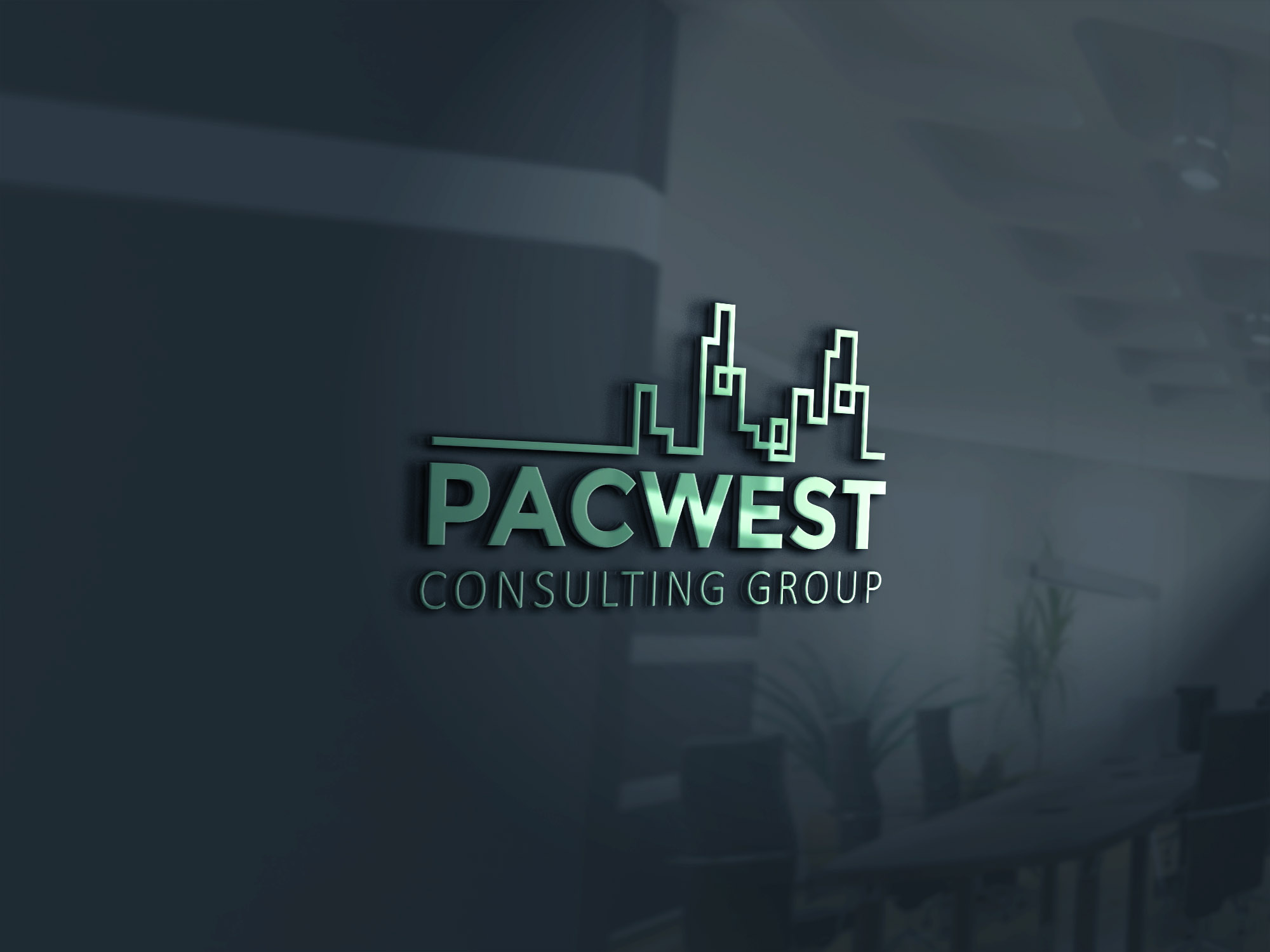 Logo Design by 354studio - Entry No. 34 in the Logo Design Contest Imaginative Logo Design for Pacwest Consulting Group.