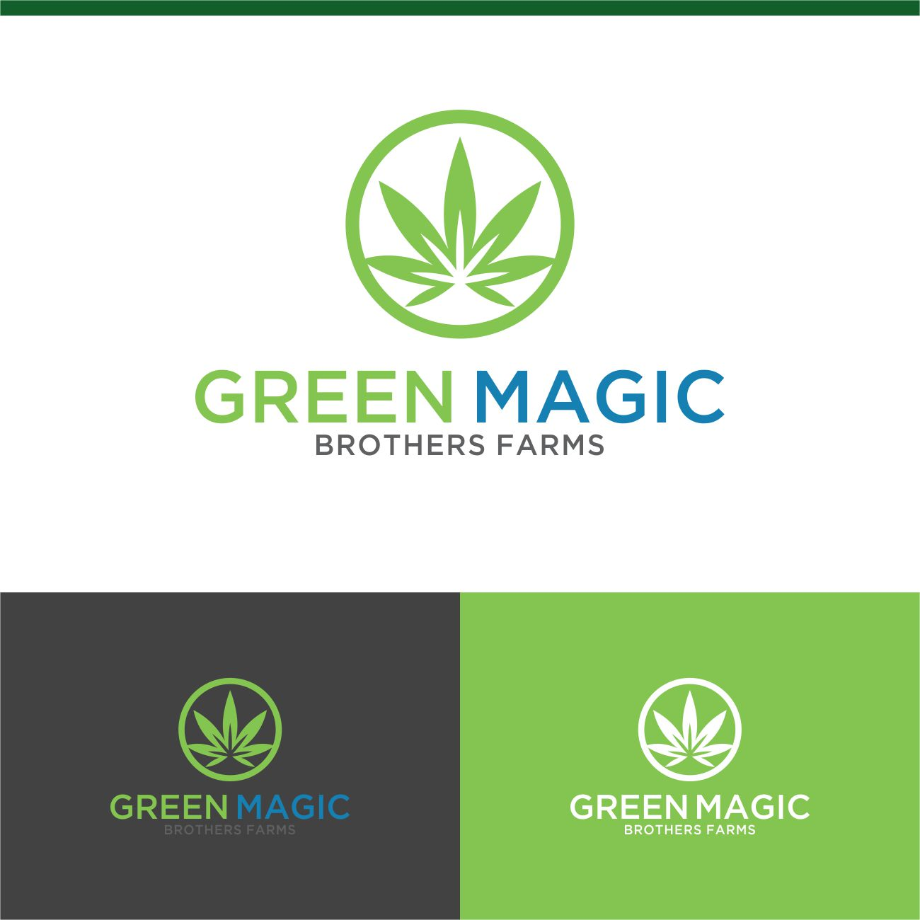 Logo Design by RasYa Muhammad Athaya - Entry No. 93 in the Logo Design Contest Green Brothers Farm Logo Design.