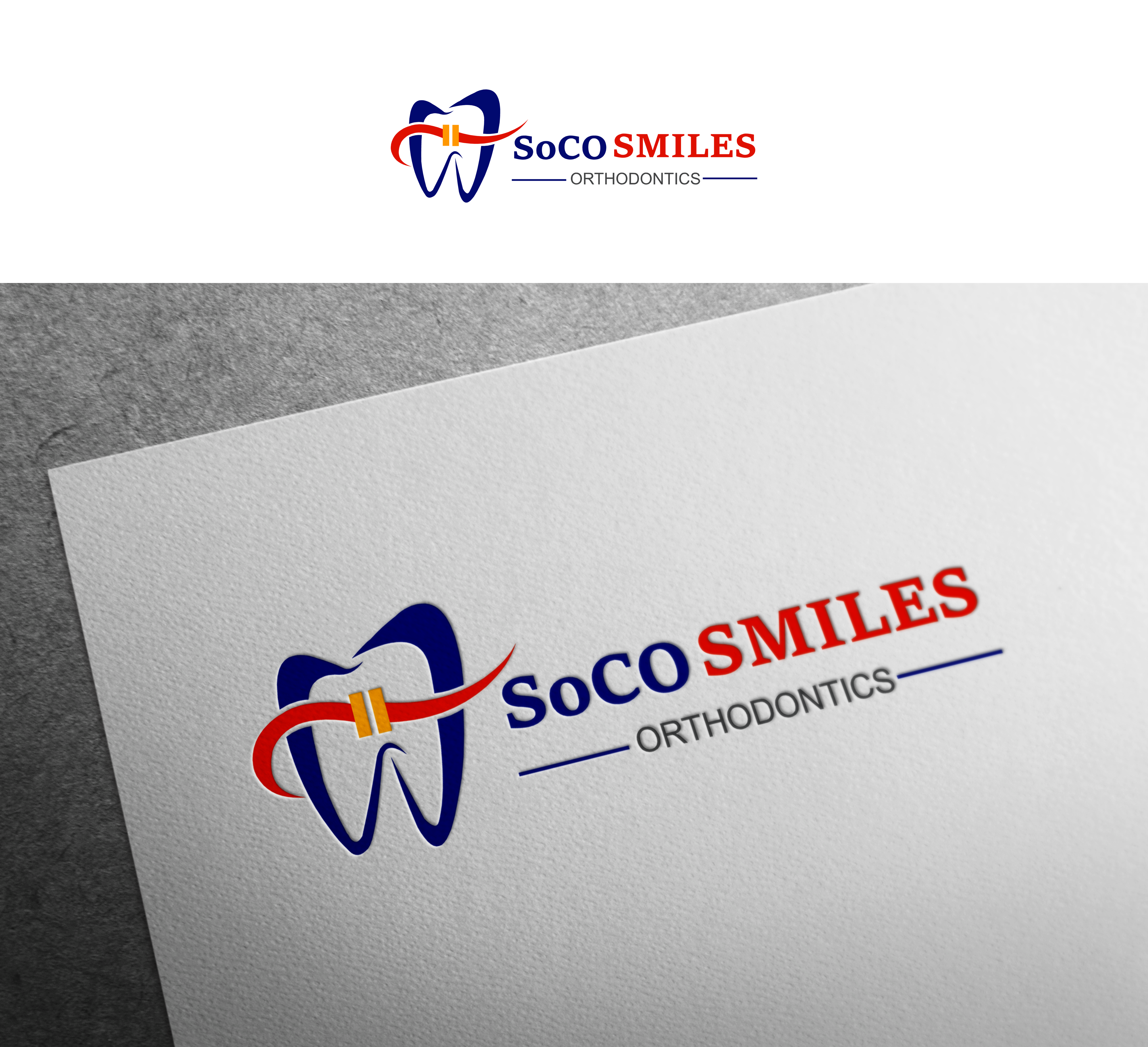 Logo Design by Hania Hassaan - Entry No. 55 in the Logo Design Contest Unique Logo Design Wanted for SoCO Smiles Orthodontics.