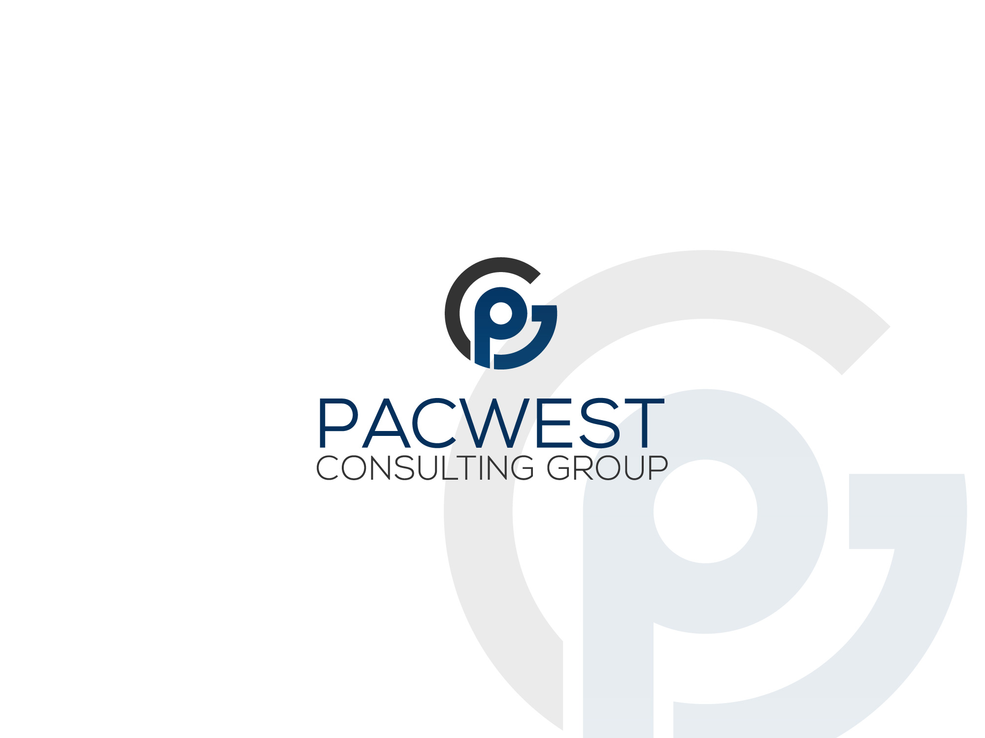 Logo Design by MD SHOHIDUL ISLAM - Entry No. 58 in the Logo Design Contest Imaginative Logo Design for Pacwest Consulting Group.
