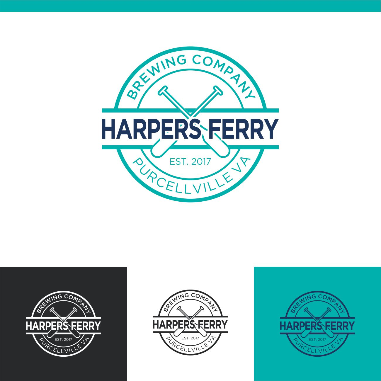 Logo Design by RasYa Muhammad Athaya - Entry No. 82 in the Logo Design Contest Unique Logo Design Wanted for Harpers ferry brewing company.