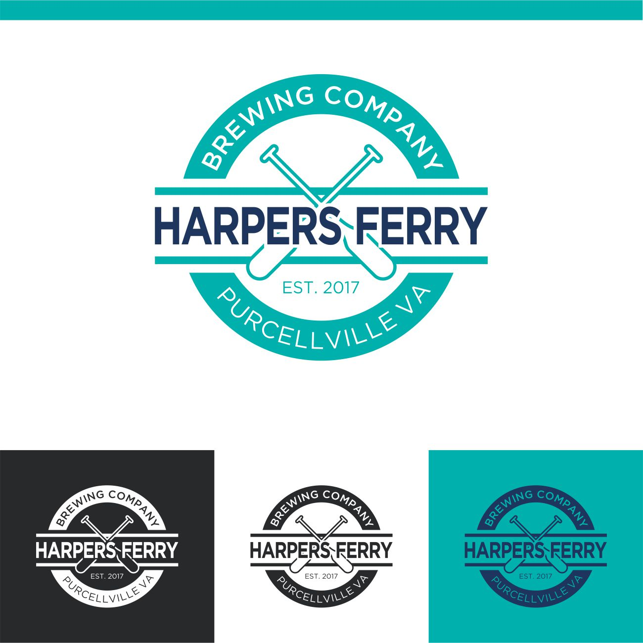 Logo Design by RasYa Muhammad Athaya - Entry No. 83 in the Logo Design Contest Unique Logo Design Wanted for Harpers ferry brewing company.