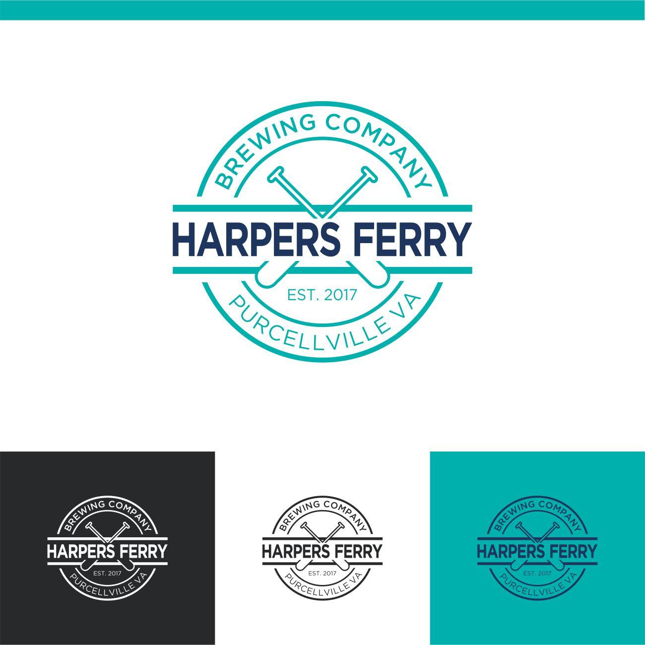 Logo Design by RasYa Muhammad Athaya - Entry No. 84 in the Logo Design Contest Unique Logo Design Wanted for Harpers ferry brewing company.
