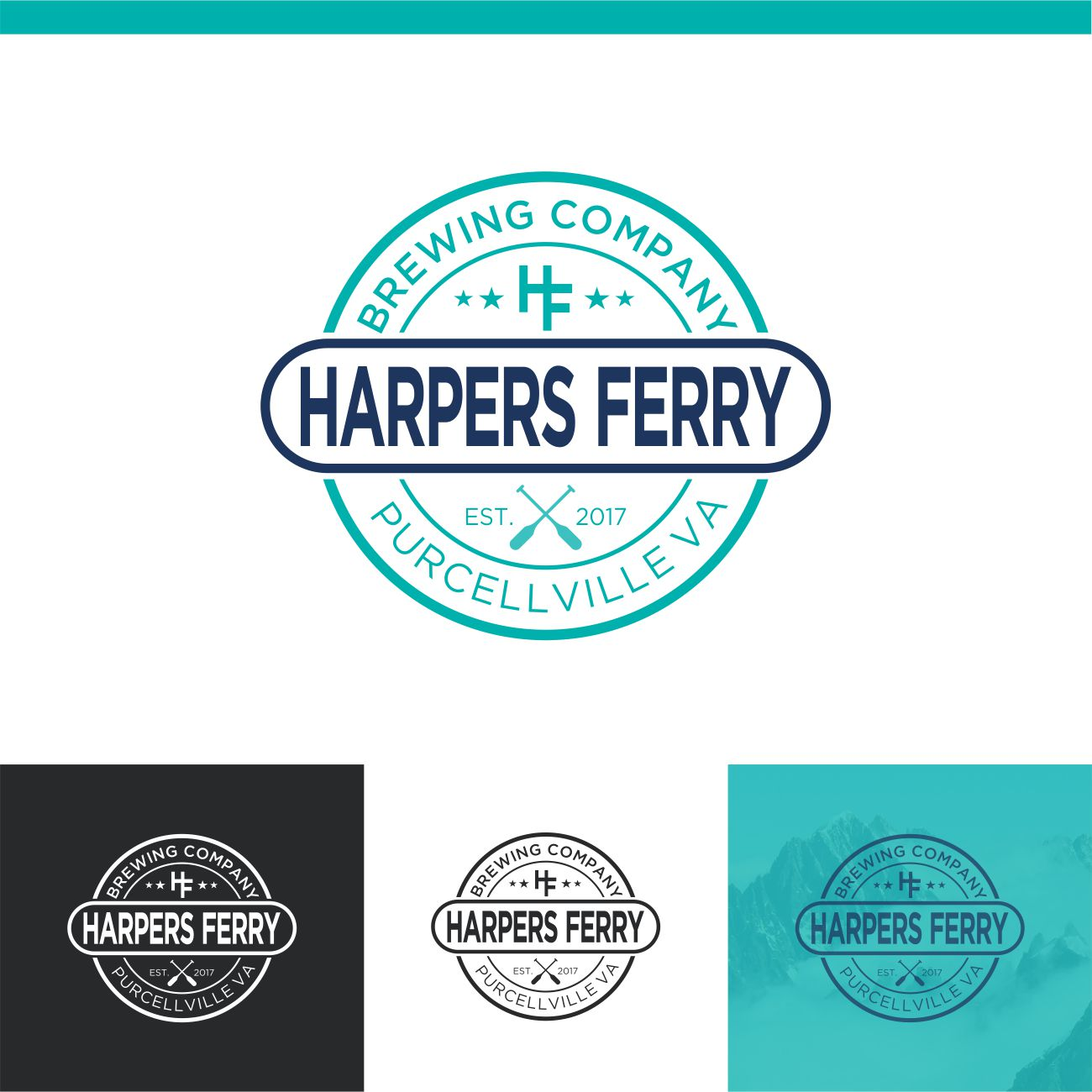 Logo Design by RasYa Muhammad Athaya - Entry No. 86 in the Logo Design Contest Unique Logo Design Wanted for Harpers ferry brewing company.