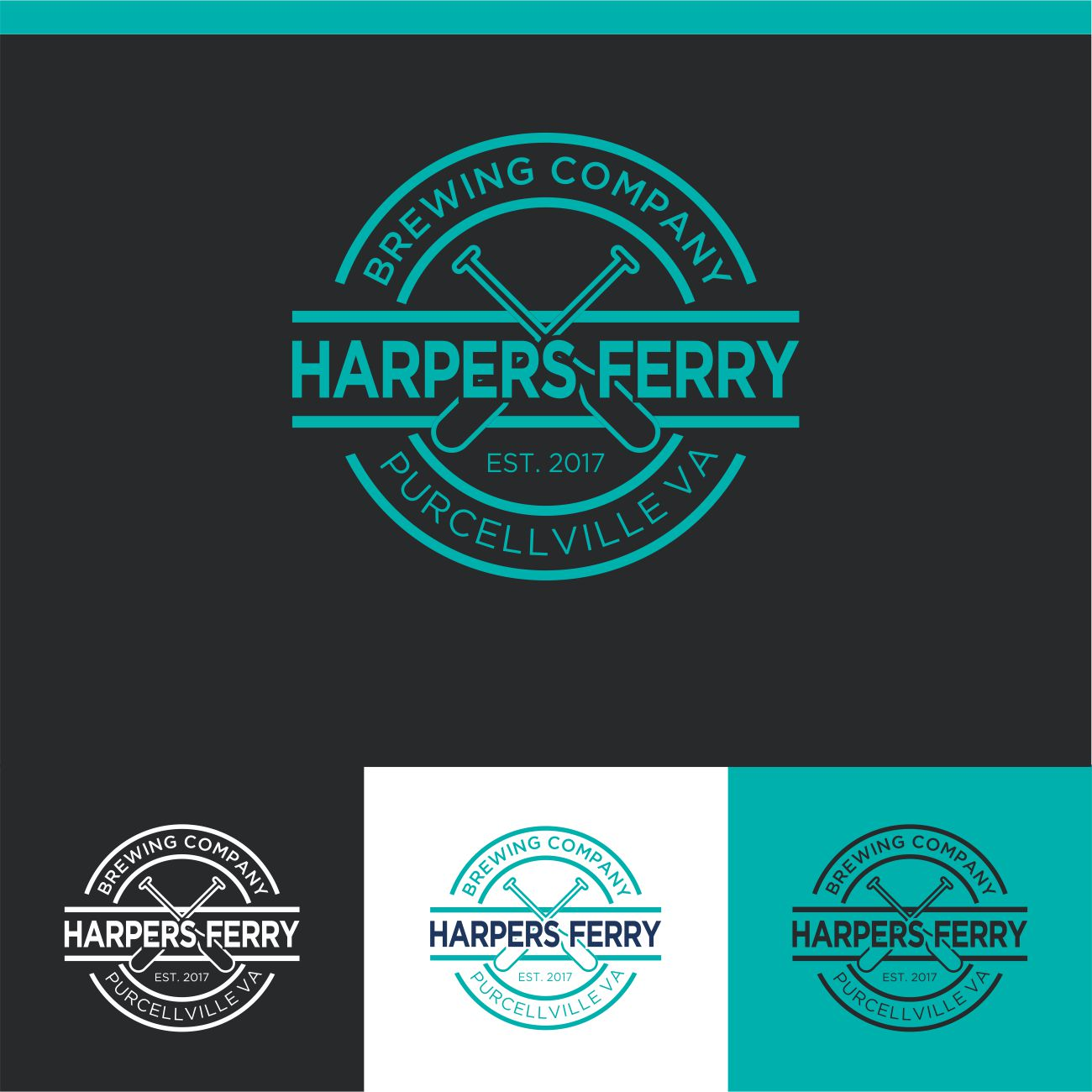 Logo Design by RasYa Muhammad Athaya - Entry No. 95 in the Logo Design Contest Unique Logo Design Wanted for Harpers ferry brewing company.