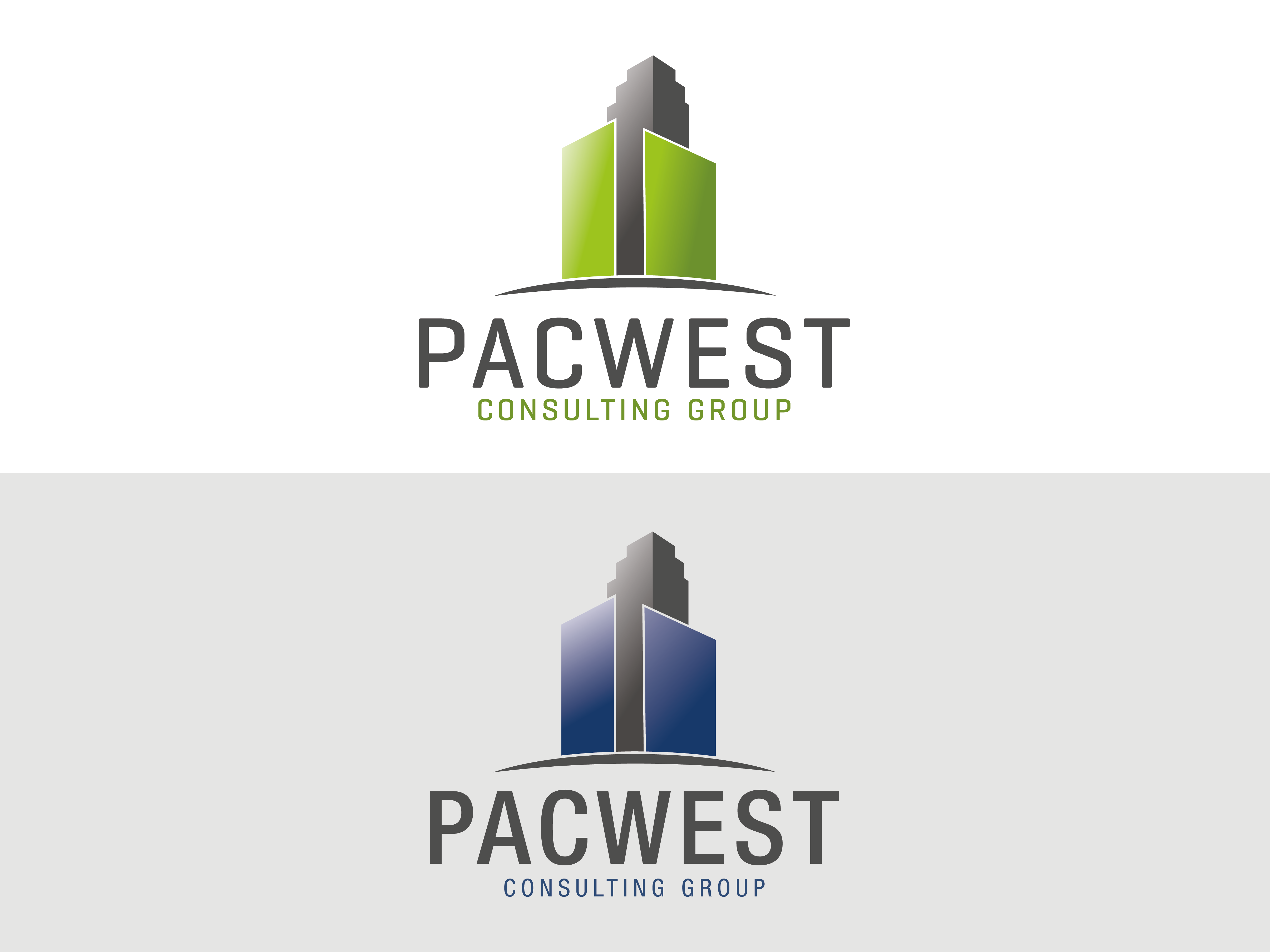 Logo Design by Evo-design - Entry No. 80 in the Logo Design Contest Imaginative Logo Design for Pacwest Consulting Group.