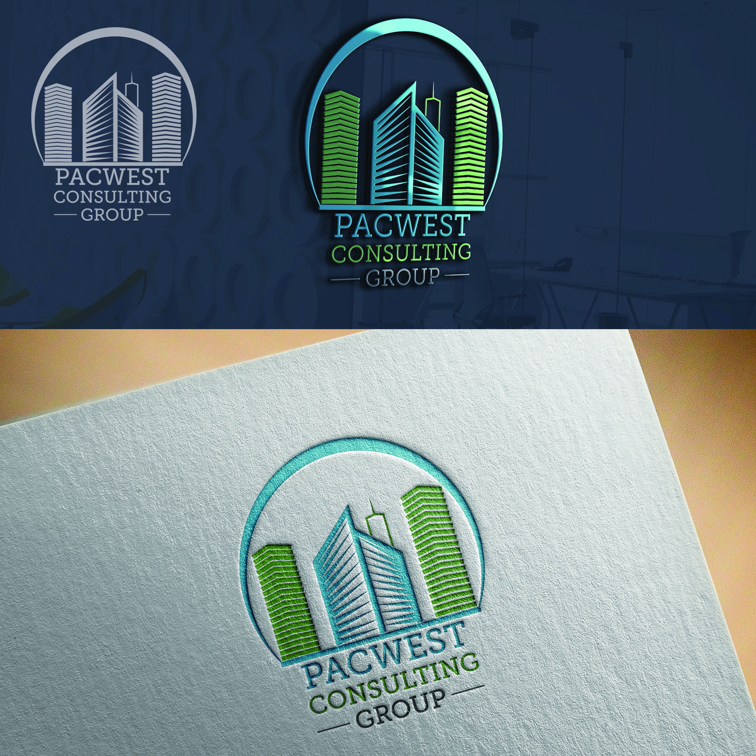 Logo Design by Umair ahmed Iqbal - Entry No. 83 in the Logo Design Contest Imaginative Logo Design for Pacwest Consulting Group.