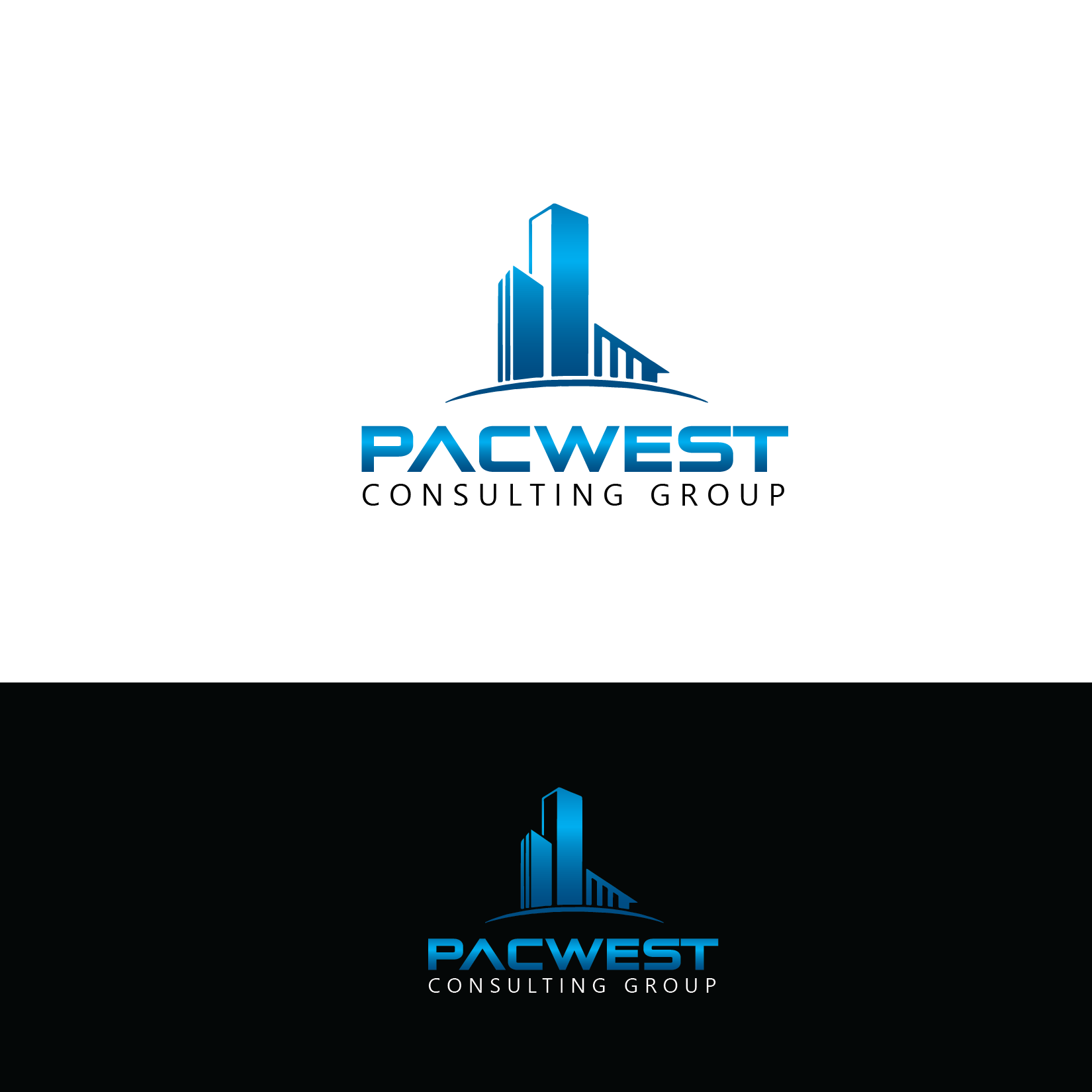 Logo Design by Private User - Entry No. 85 in the Logo Design Contest Imaginative Logo Design for Pacwest Consulting Group.