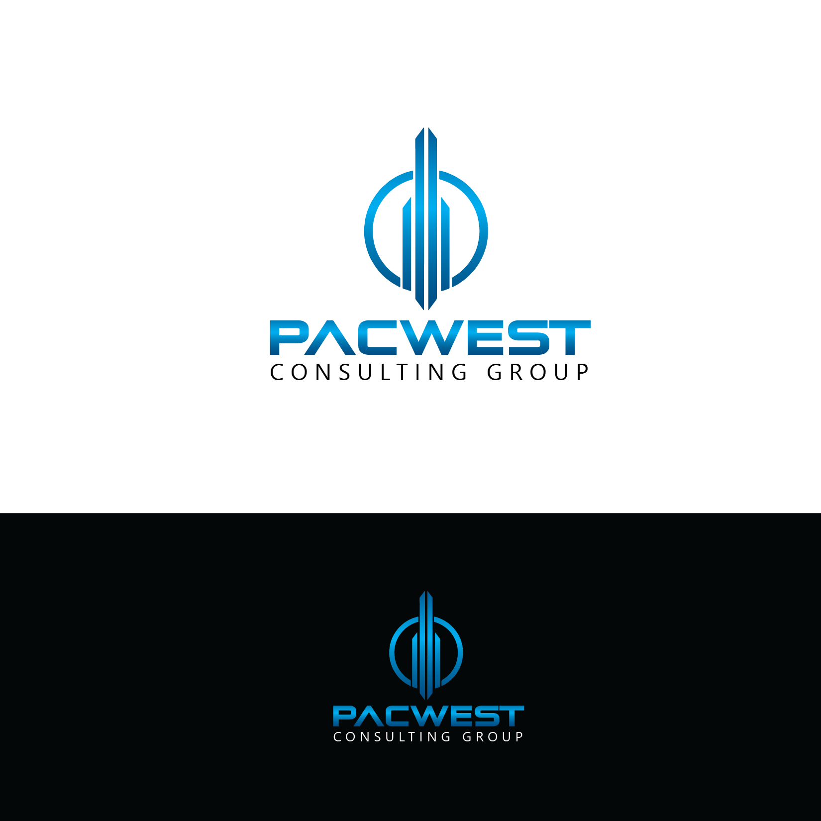 Logo Design by Private User - Entry No. 86 in the Logo Design Contest Imaginative Logo Design for Pacwest Consulting Group.