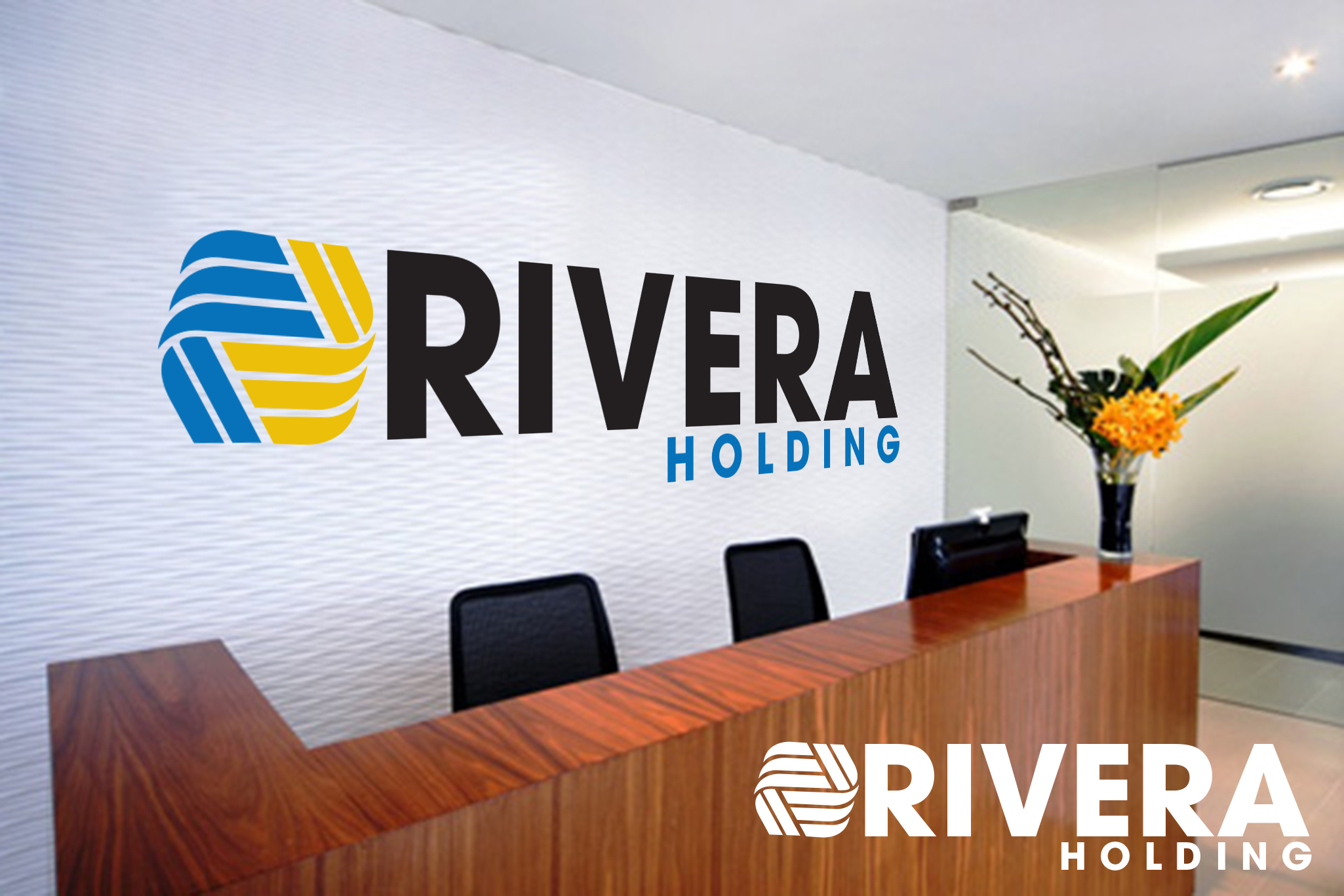 Logo Design by Rob King - Entry No. 6 in the Logo Design Contest RIVERA HOLDING Logo Design.