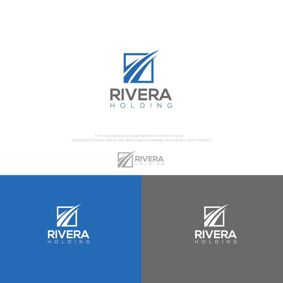 Logo Design by Md Sohal - Entry No. 22 in the Logo Design Contest RIVERA HOLDING Logo Design.