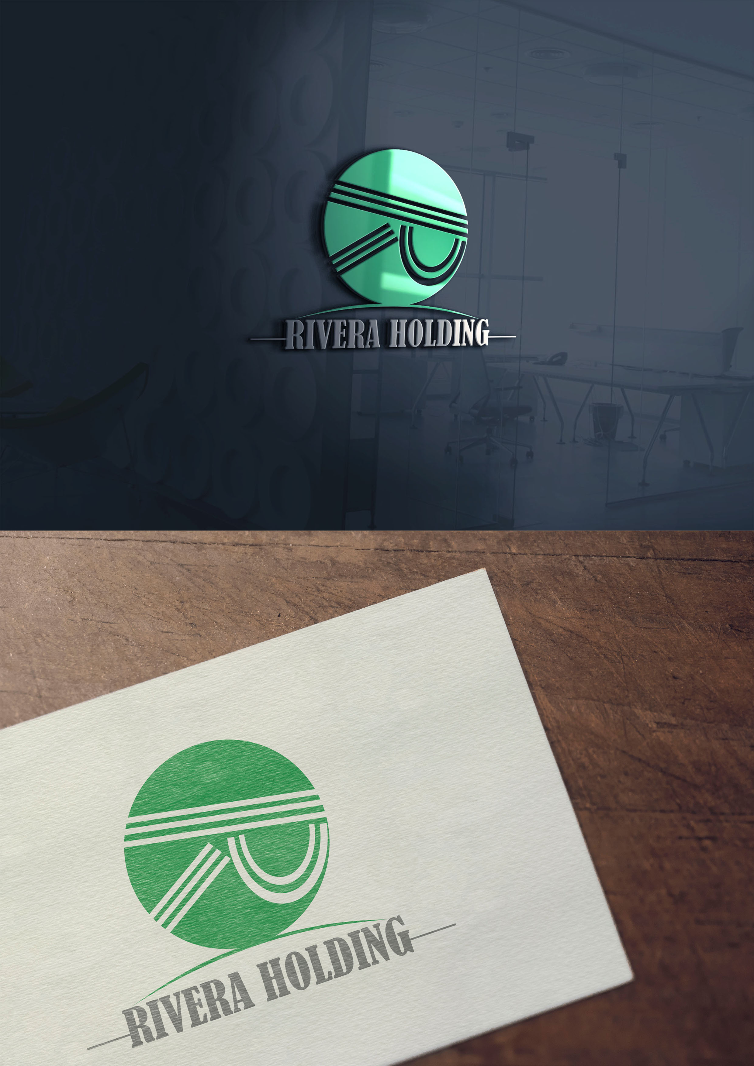 Logo Design by Rudy Permana - Entry No. 29 in the Logo Design Contest RIVERA HOLDING Logo Design.
