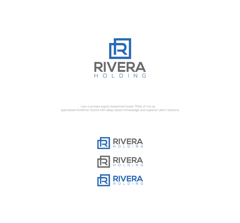 Logo Design by Md Sohal - Entry No. 130 in the Logo Design Contest RIVERA HOLDING Logo Design.