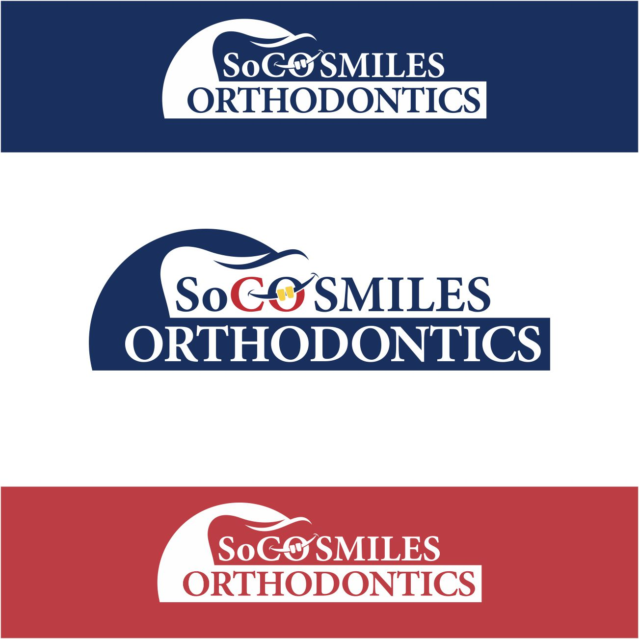 Logo Design by RasYa Muhammad Athaya - Entry No. 95 in the Logo Design Contest Unique Logo Design Wanted for SoCO Smiles Orthodontics.