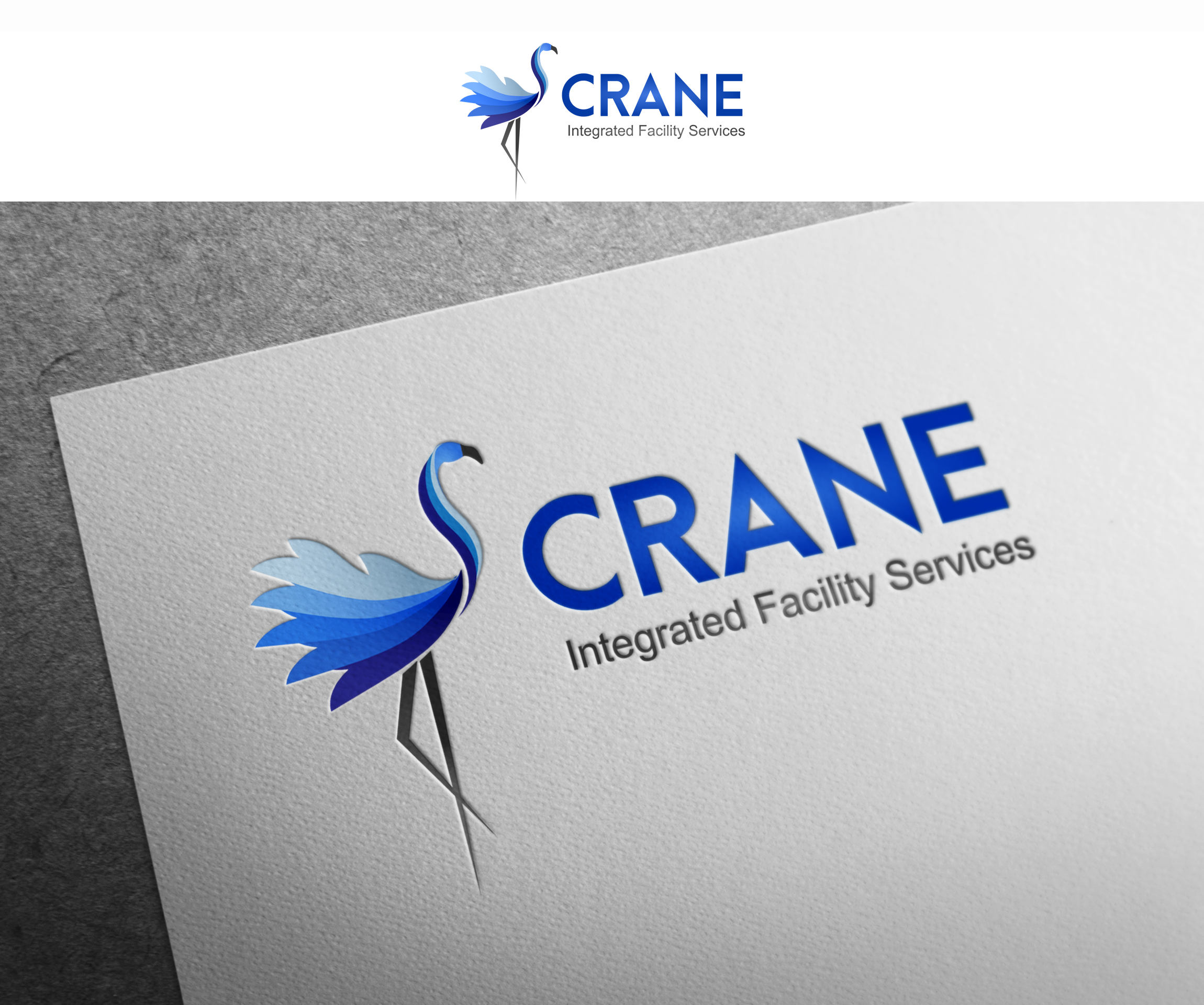 Logo Design by Hania Hassaan - Entry No. 26 in the Logo Design Contest Inspiring Logo Design for Crane Integrated Facility Services.