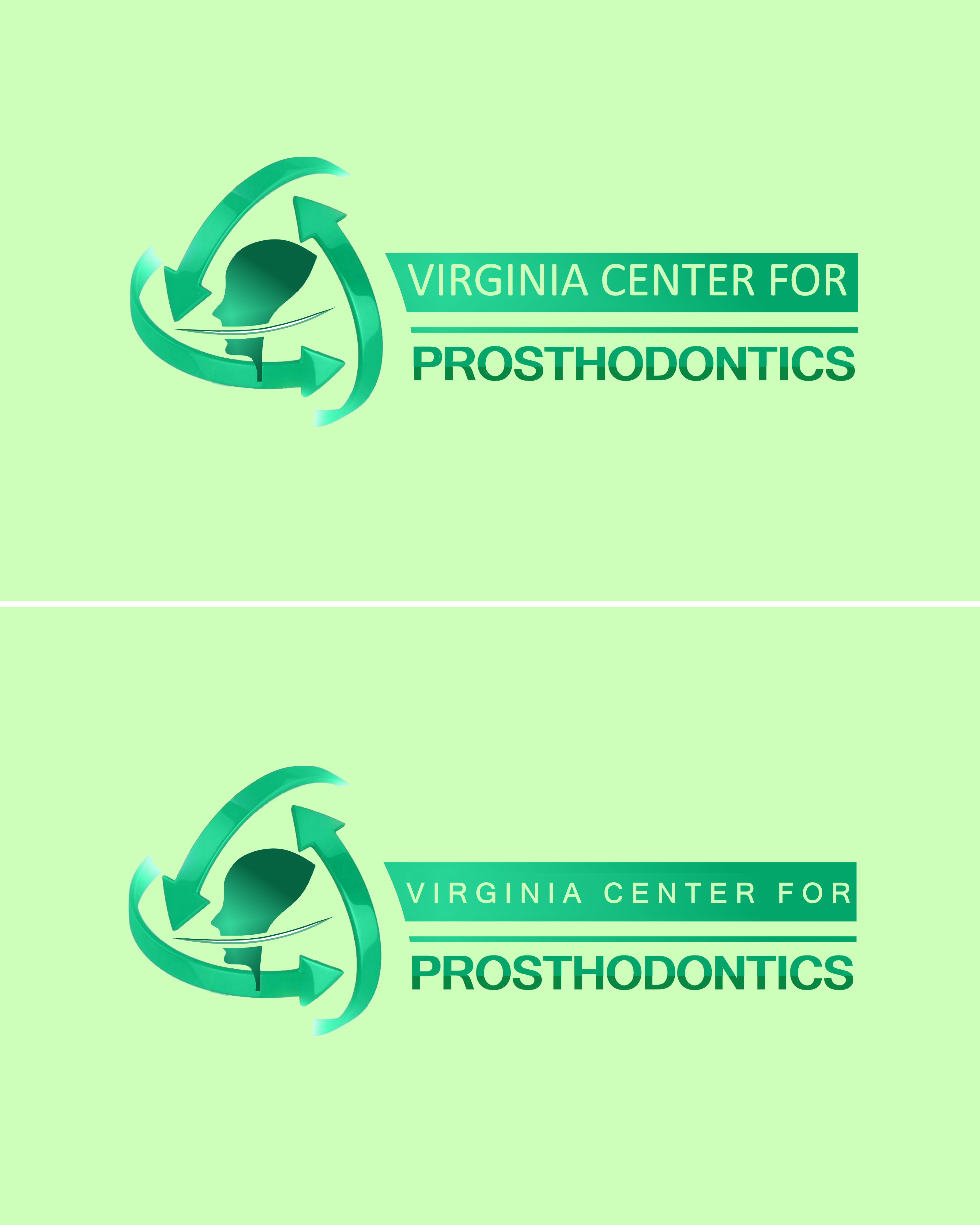 Logo Design by Roberto Bassi - Entry No. 107 in the Logo Design Contest Imaginative Logo Design for Virginia Center for Prosthodontics.