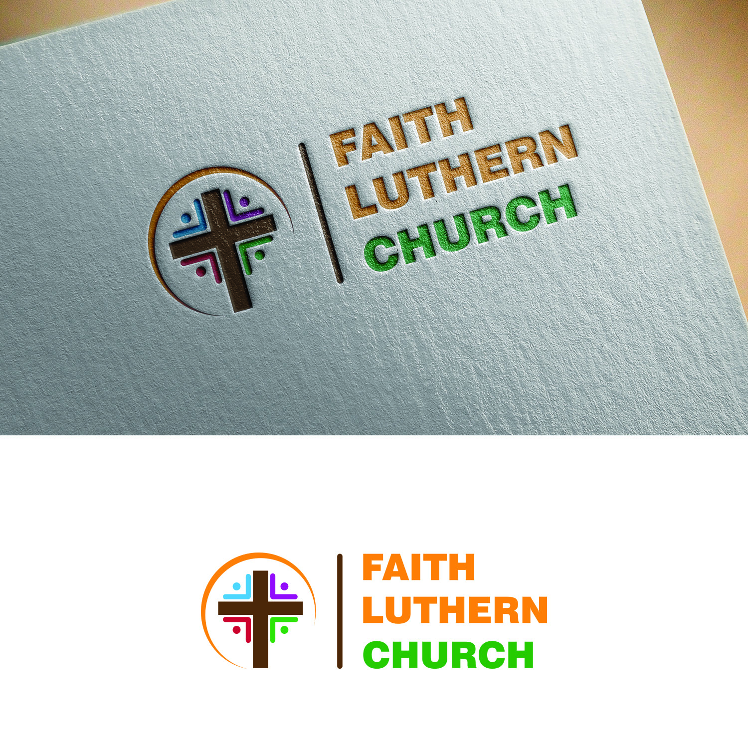Logo Design by Umair ahmed Iqbal - Entry No. 5 in the Logo Design Contest Logo Design for Faith Lutheran Church.