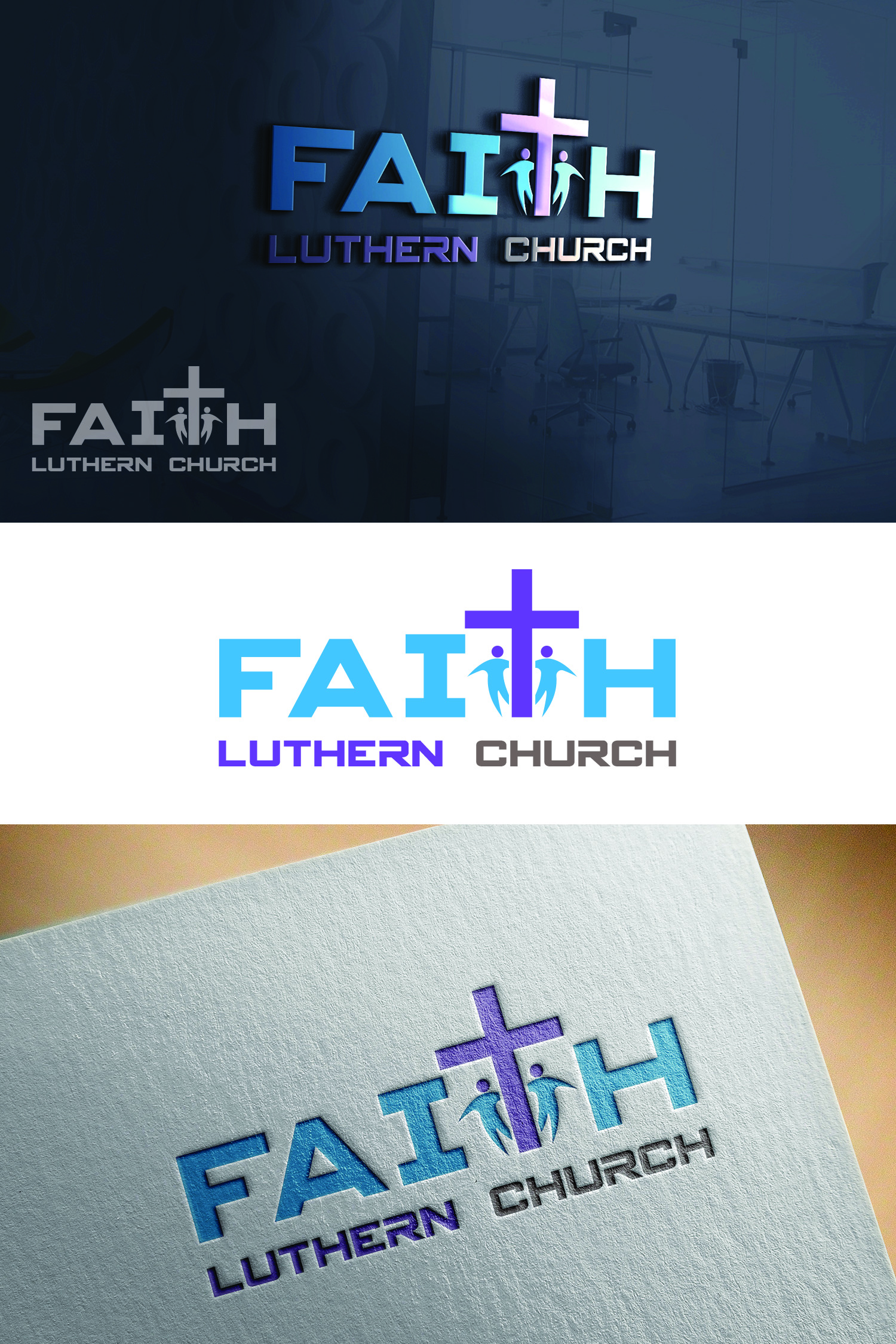 Logo Design by Umair ahmed Iqbal - Entry No. 37 in the Logo Design Contest Logo Design for Faith Lutheran Church.