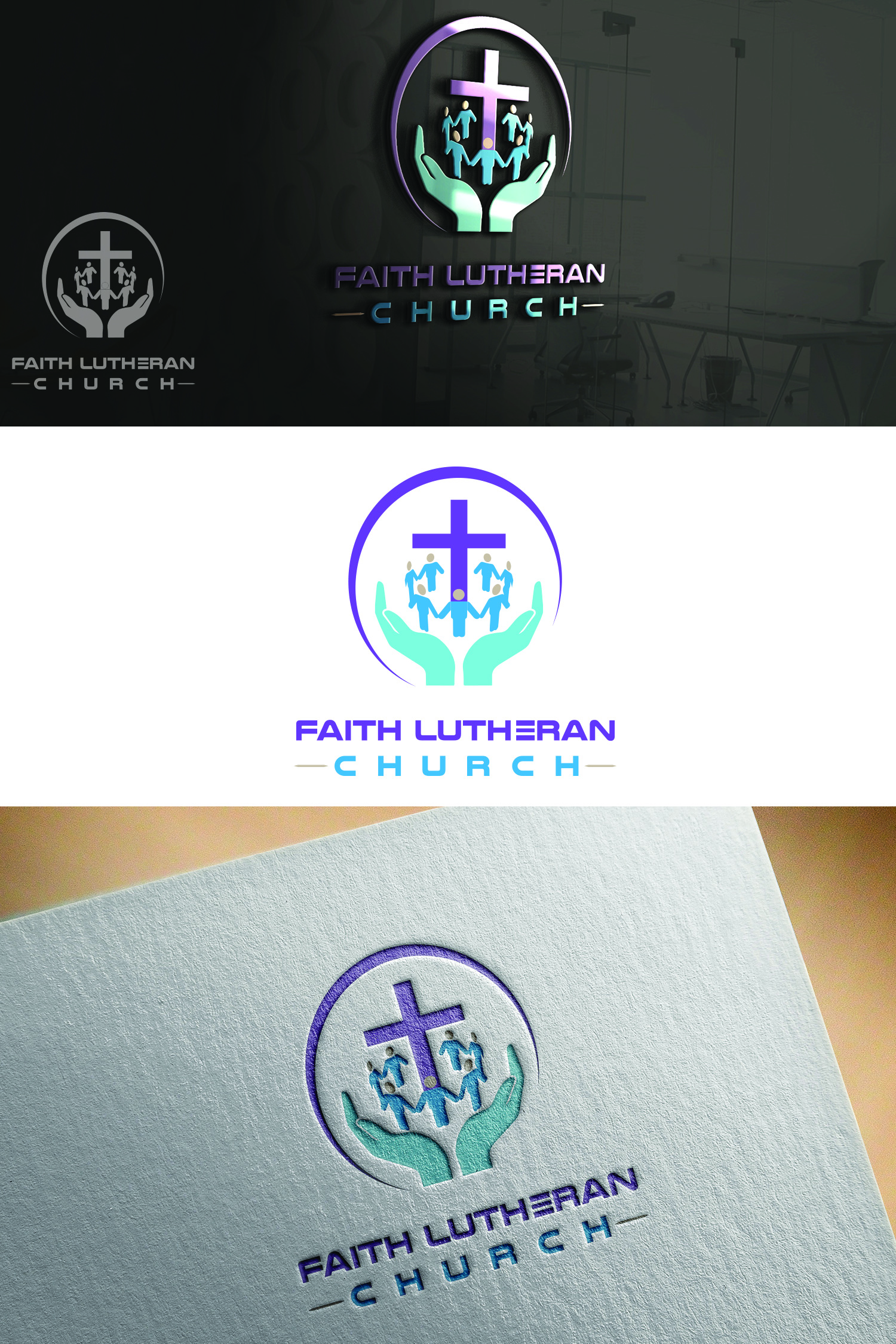 Logo Design by Umair ahmed Iqbal - Entry No. 40 in the Logo Design Contest Logo Design for Faith Lutheran Church.